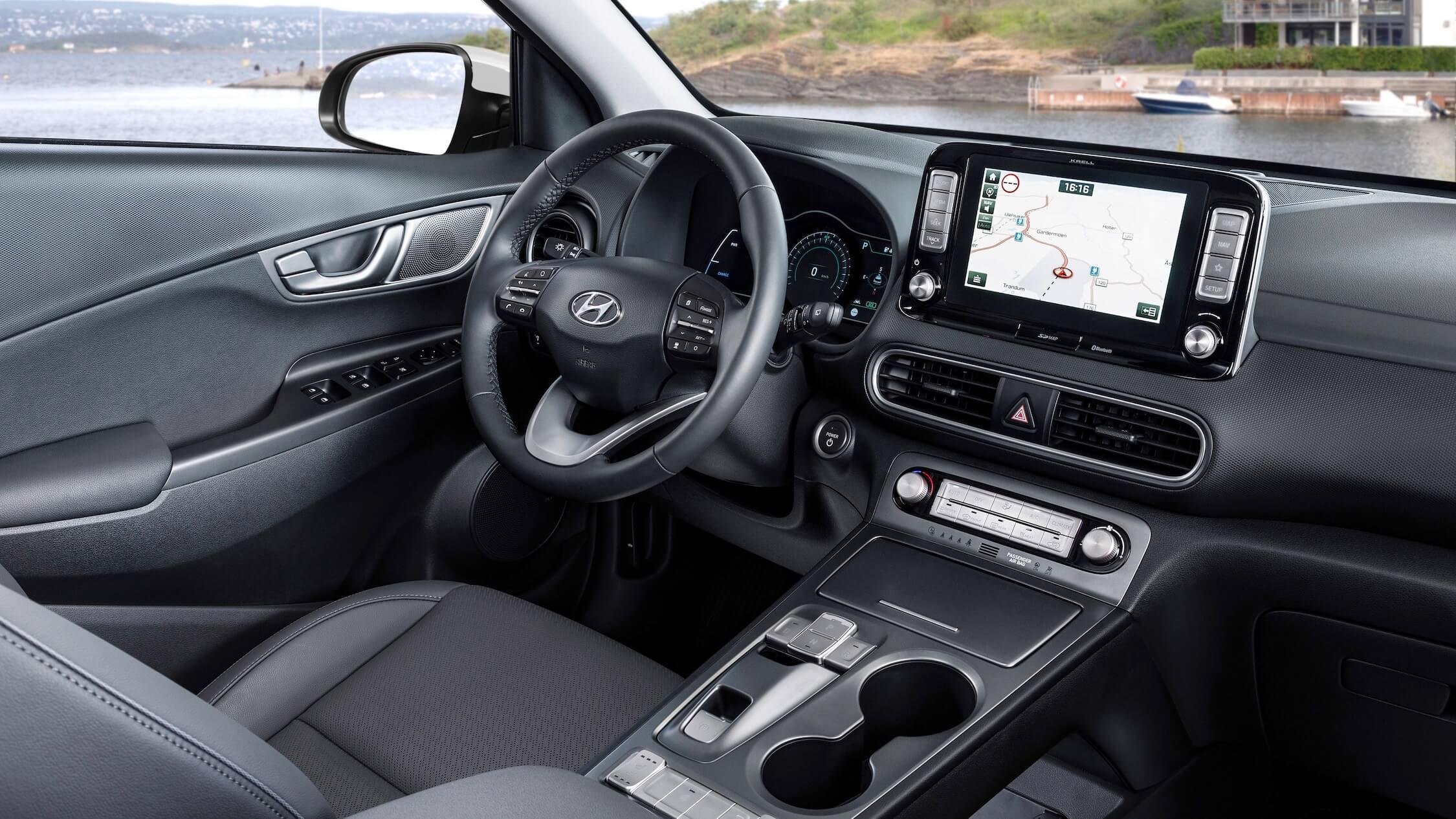 Hyundai Kona EV dashboard
