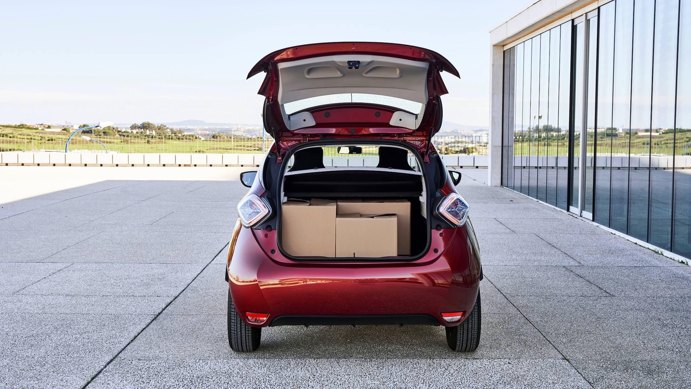 Renault ZOE kofferruimte