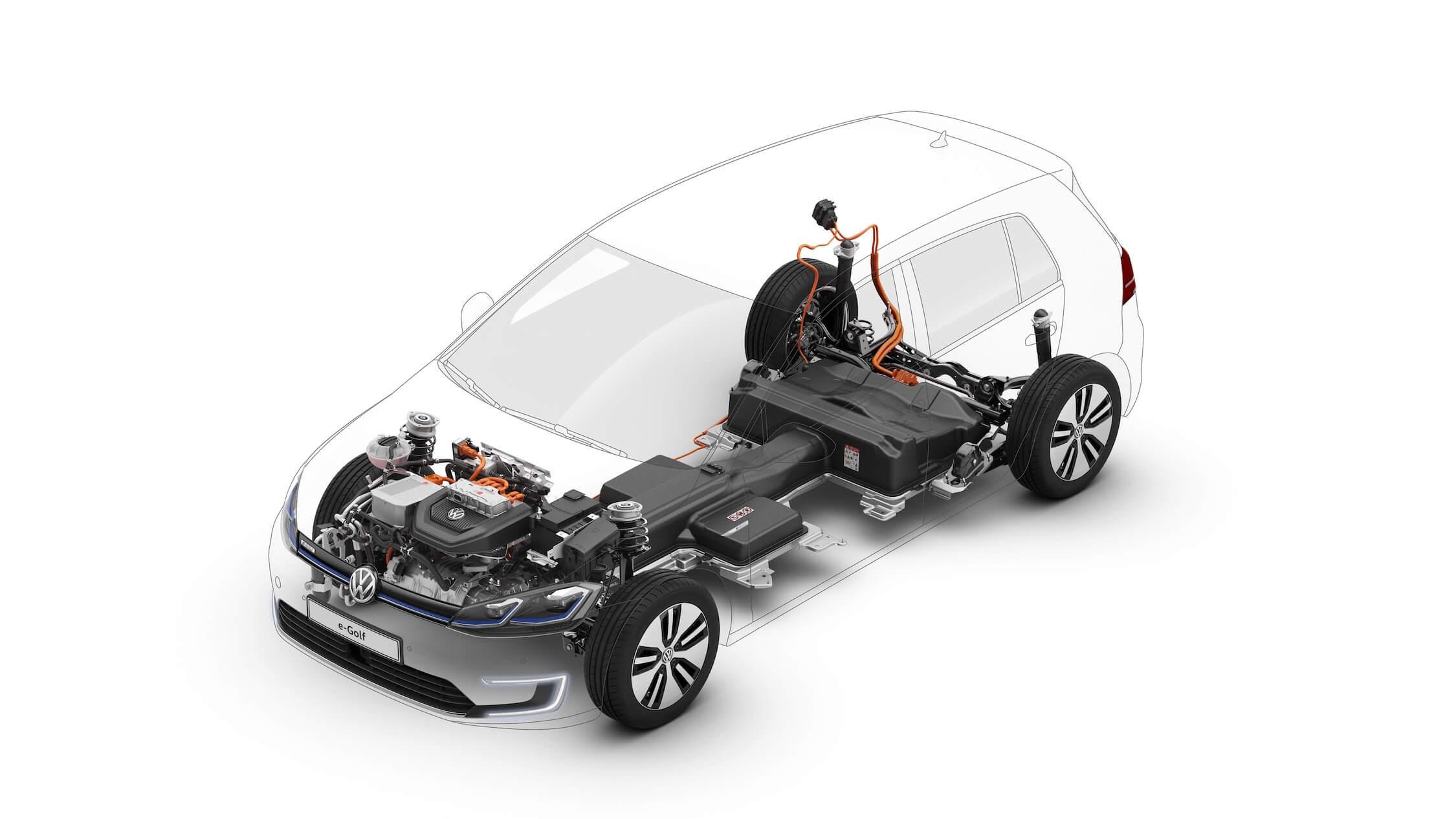 Elektrische Volkswagen Golf Batterij