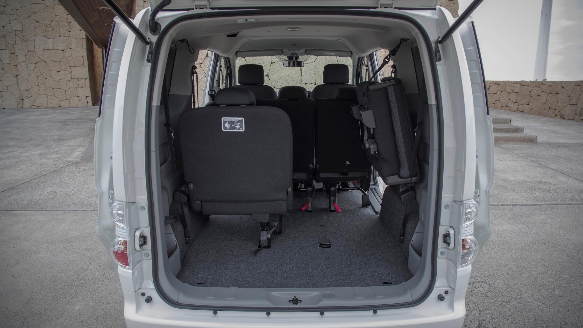 Nissan e-NV200 kofferruimte