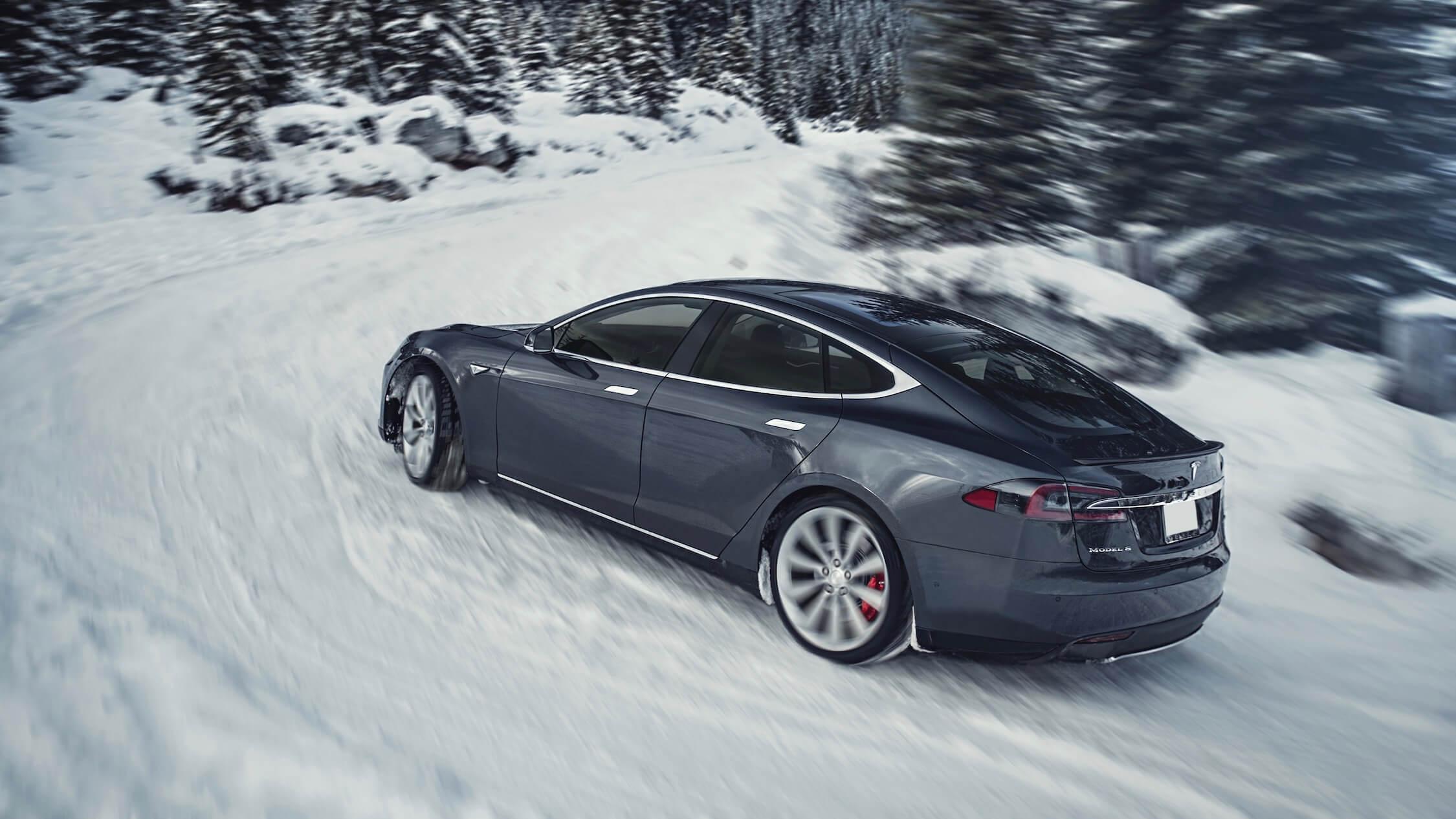 Tesla Model S zwart