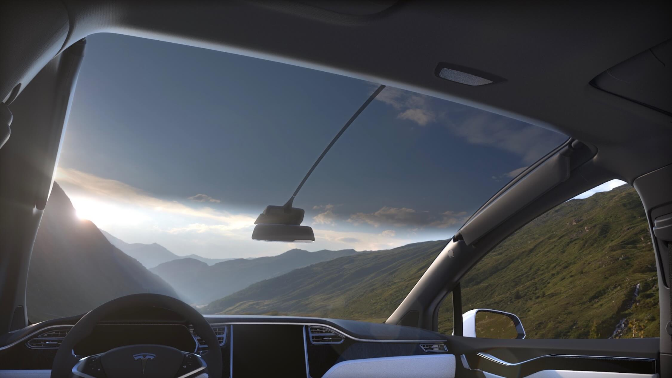 Tesla Model X voorruit