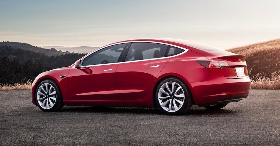 Tesla Model 3 multi-coat rood