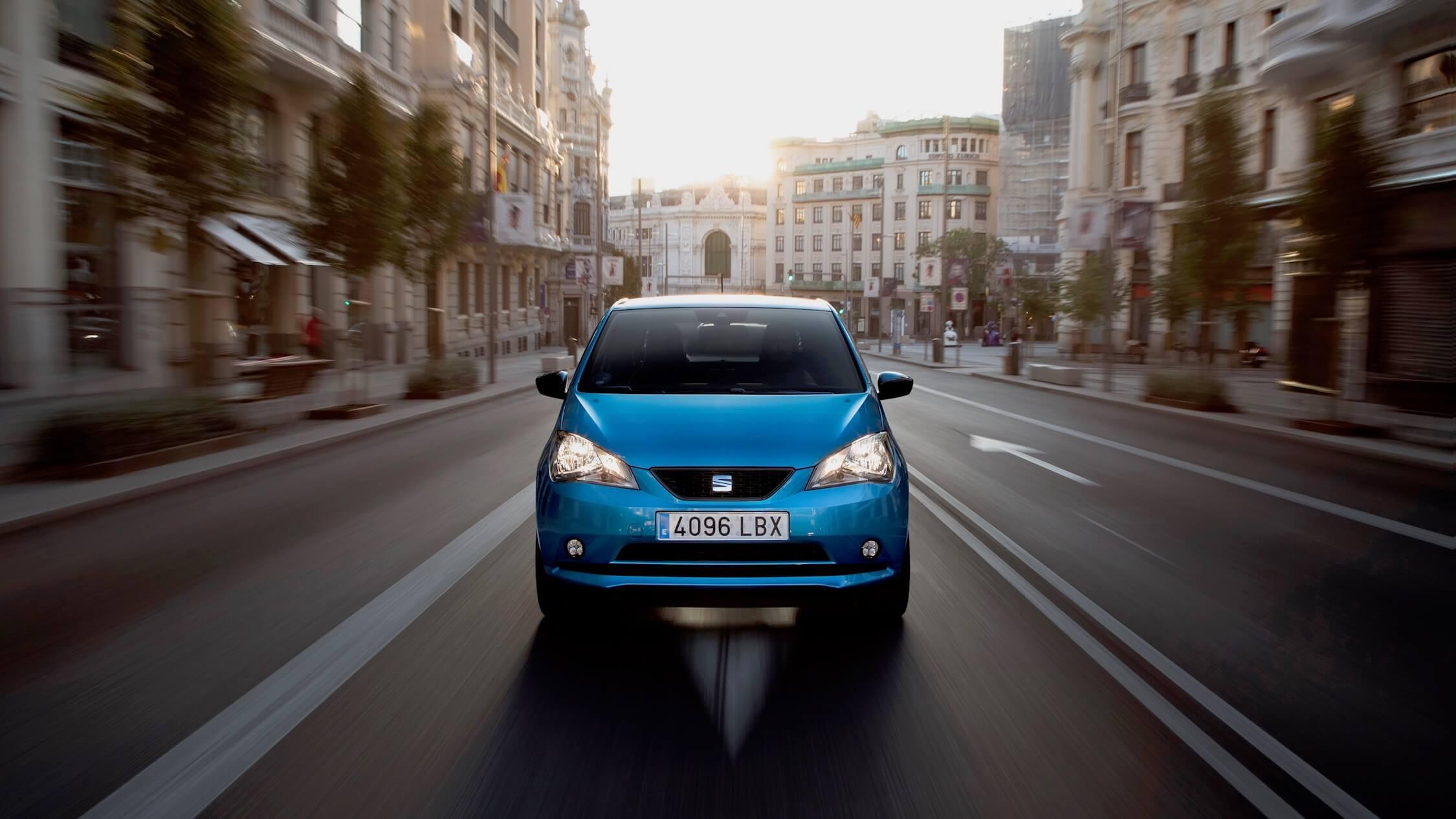 elektrische Seat e-Mii blauw