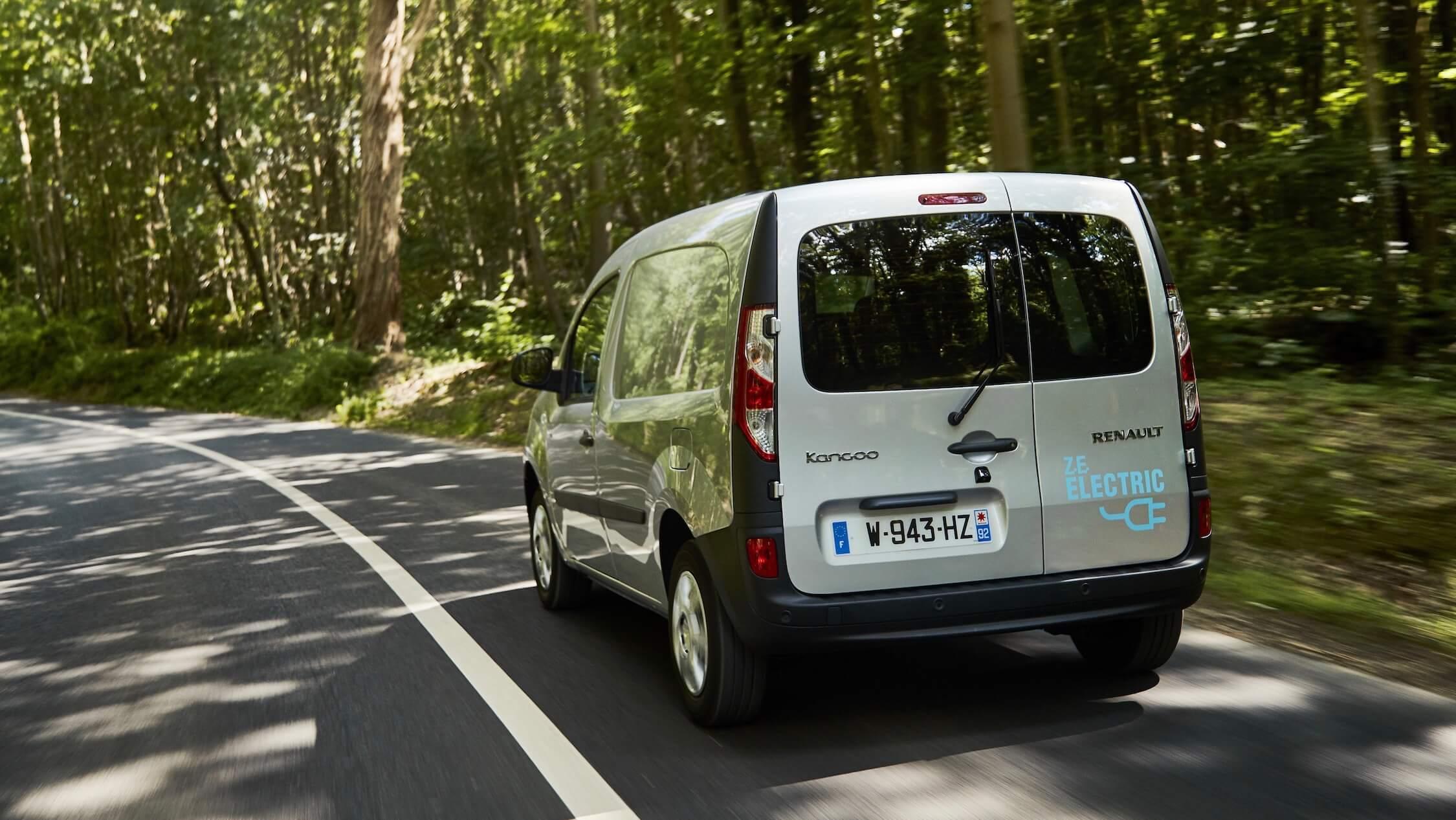 Renault Kangoo ZE rijdend