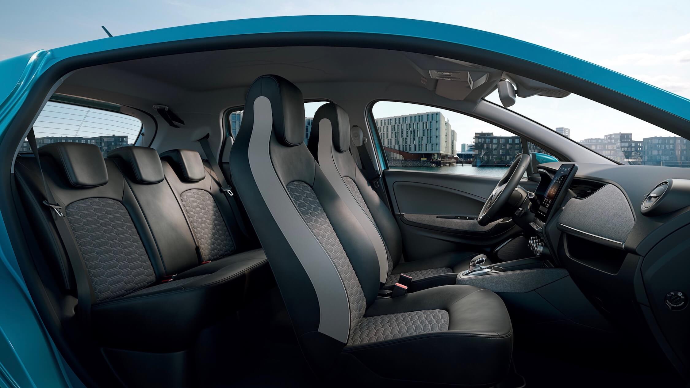 Nieuwe Renault Zoe achterbank