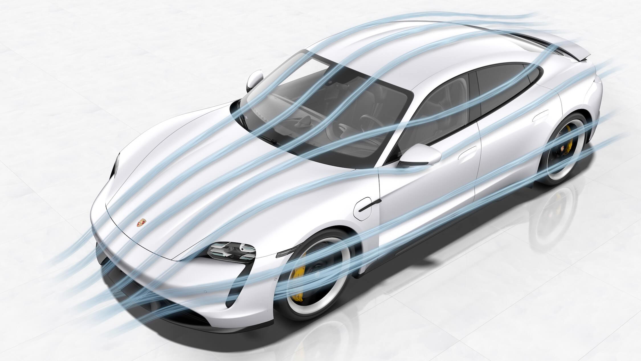 Porsche Taycan aerodynamica
