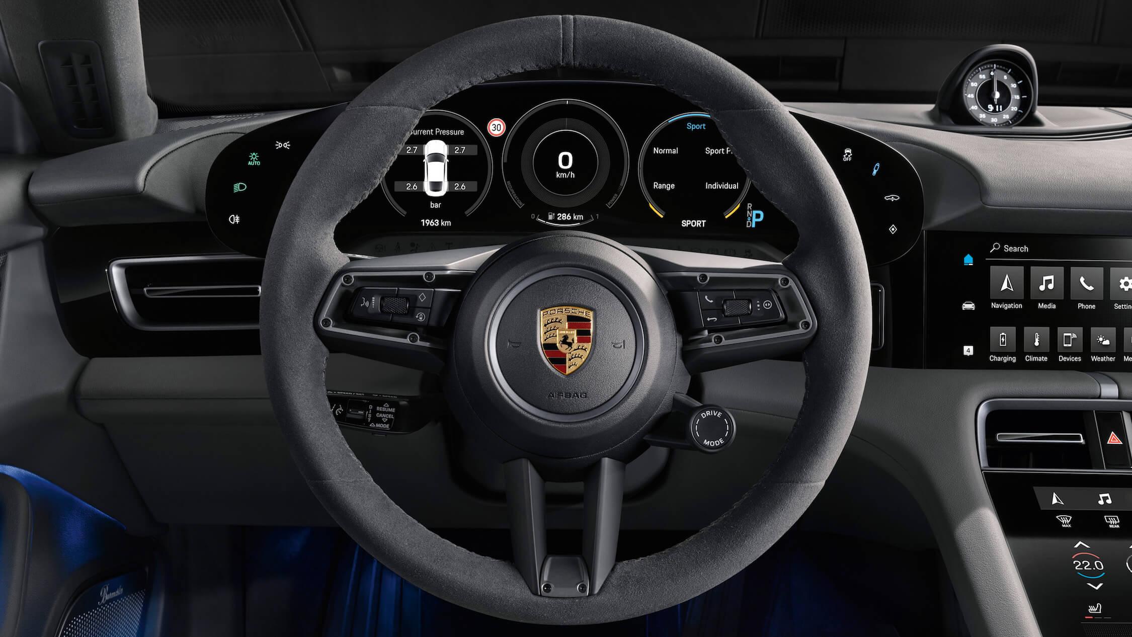 Porsche Taycan stuur