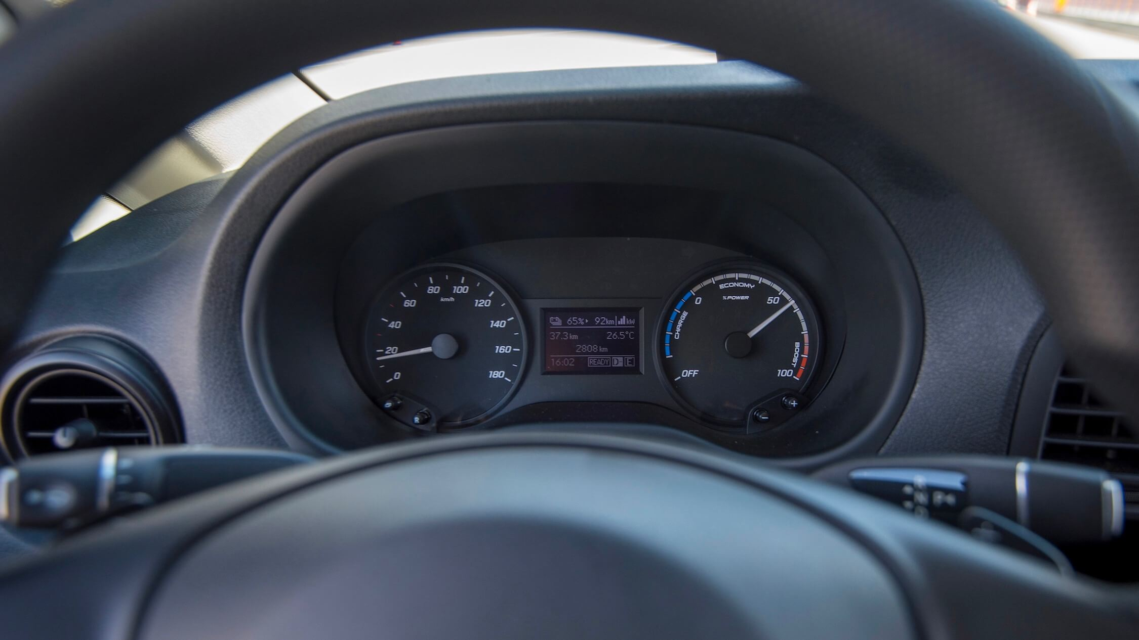 Mercedes eVito dashboard