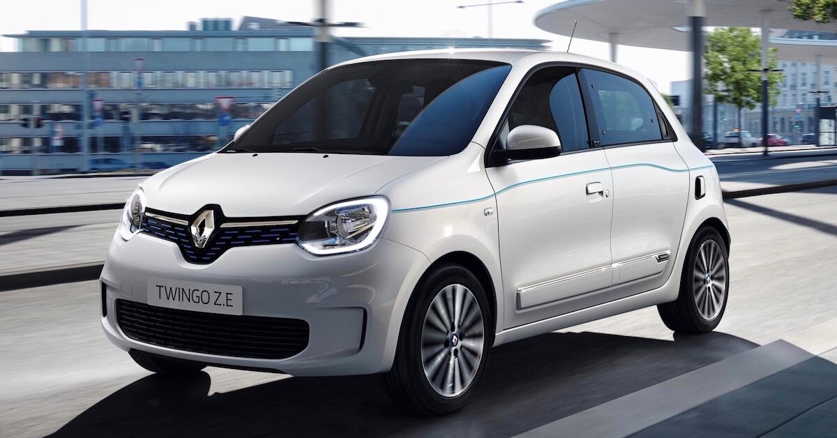 elektrische Renault Twingo ZE wit