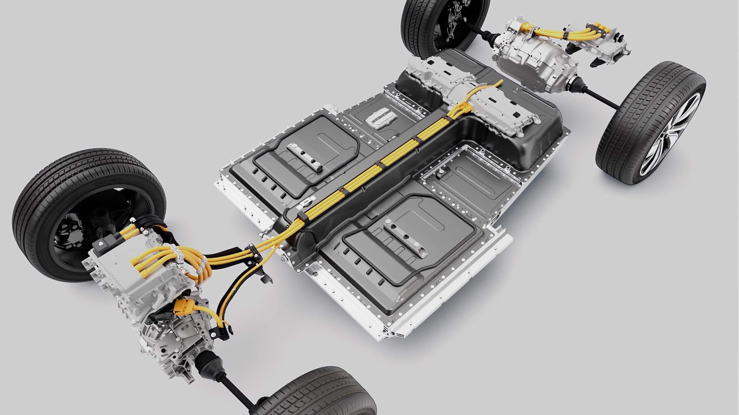 elektrische Volvo XC40 accu