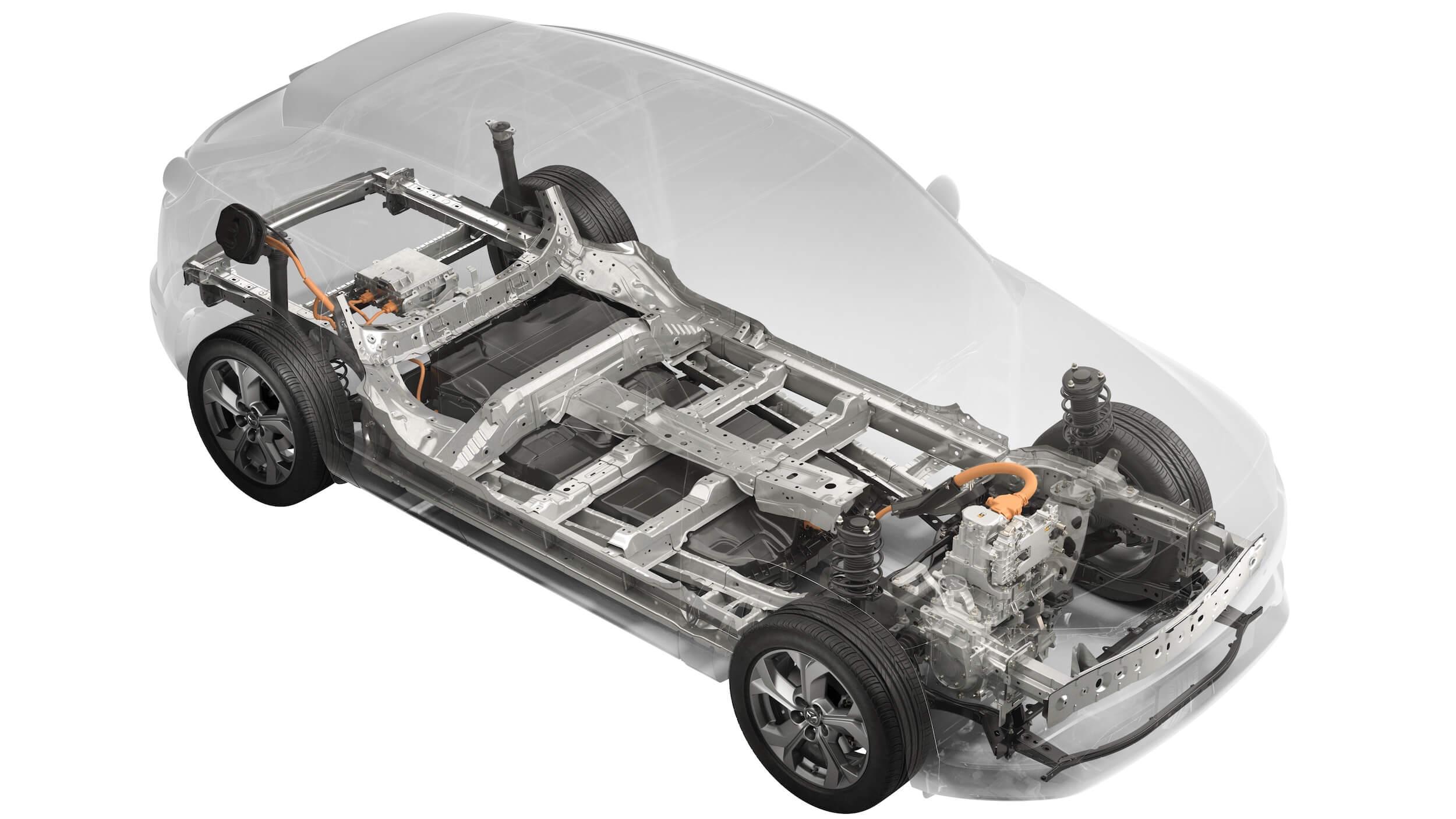 Mazda MX-30 aandrijflijn