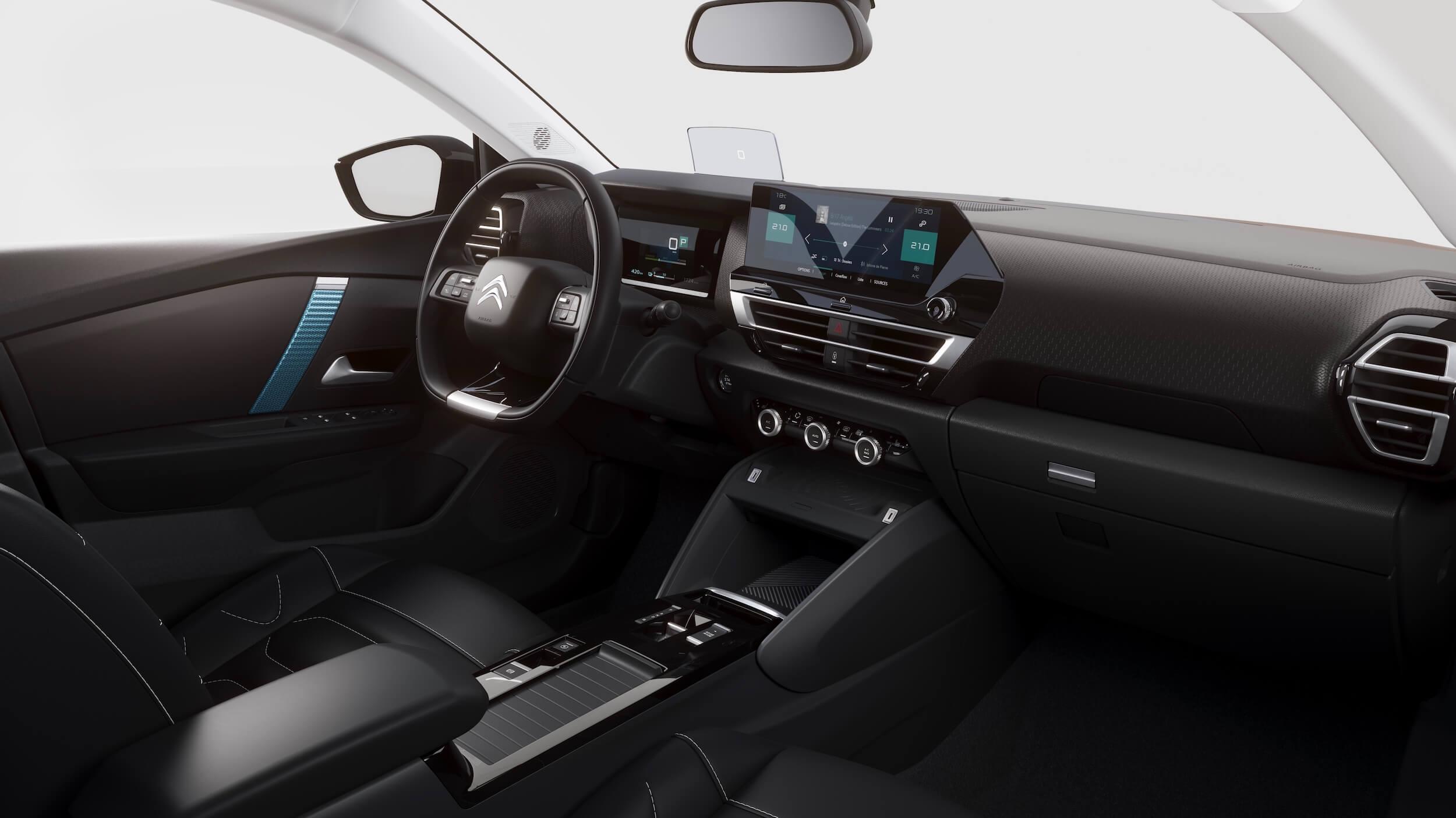 Citroën e C4 stuur en dashboard