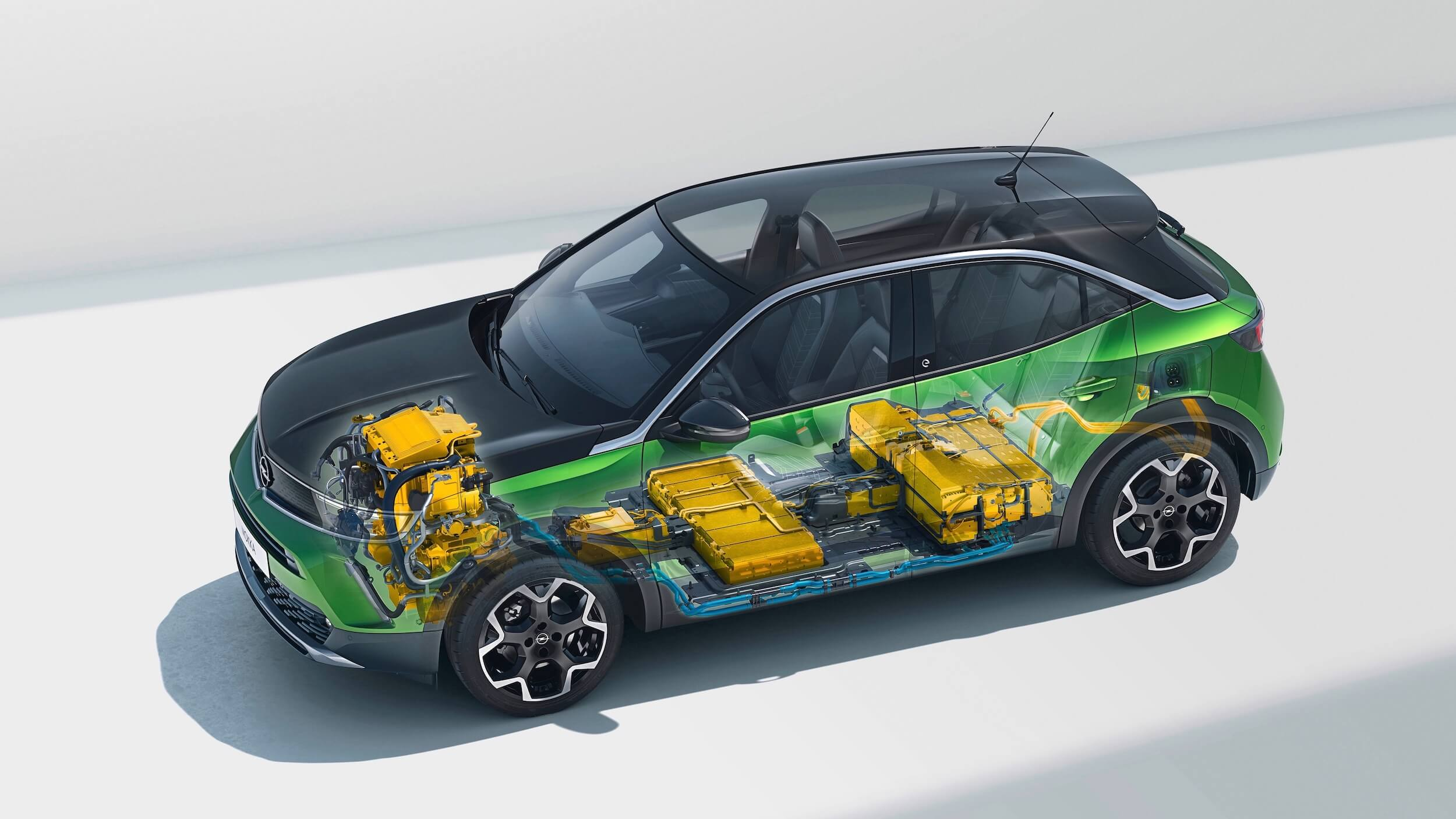 Elektrische Opel Mokka e accupakket design