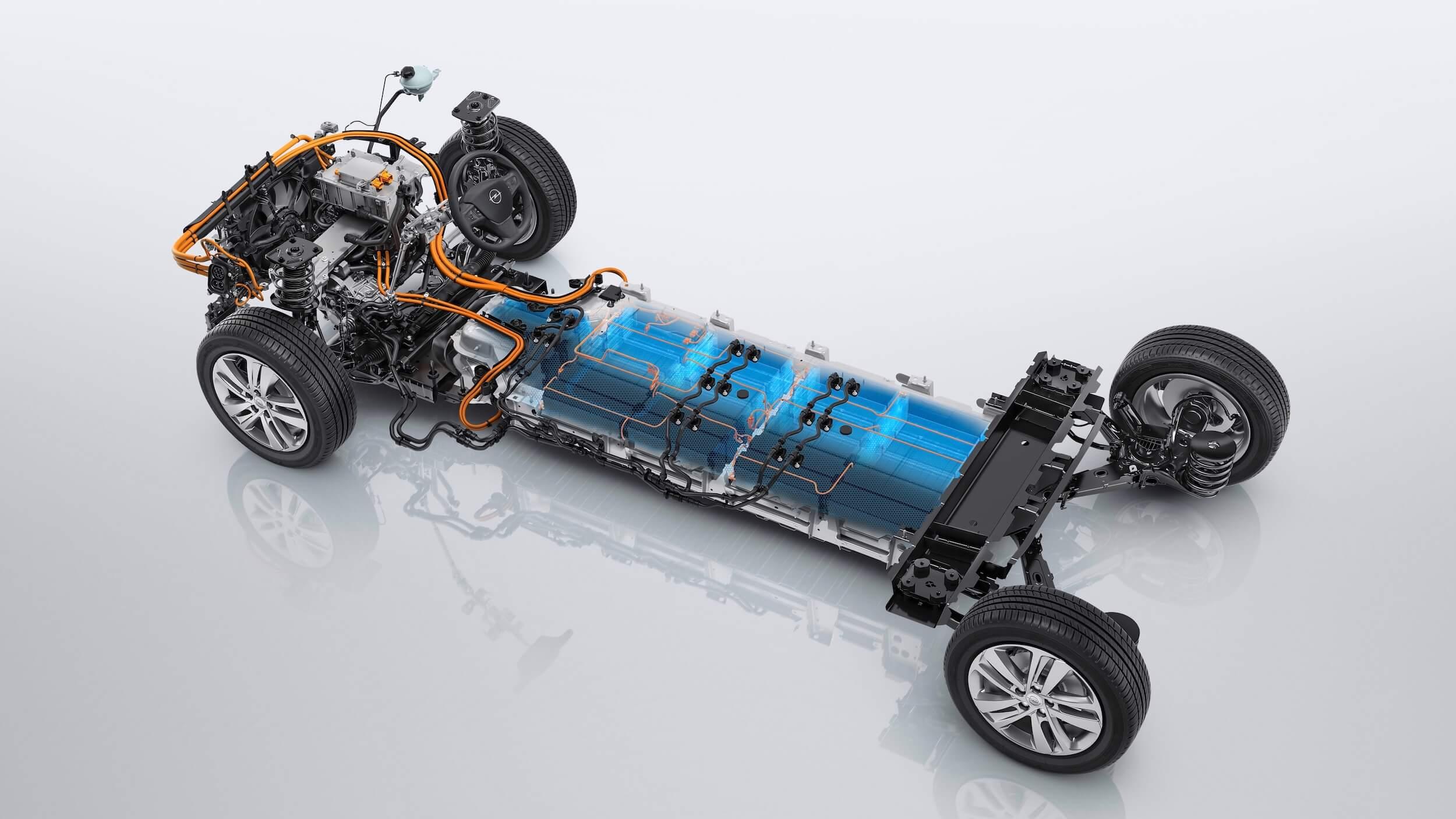 Elektrische Opel Zafira e accu