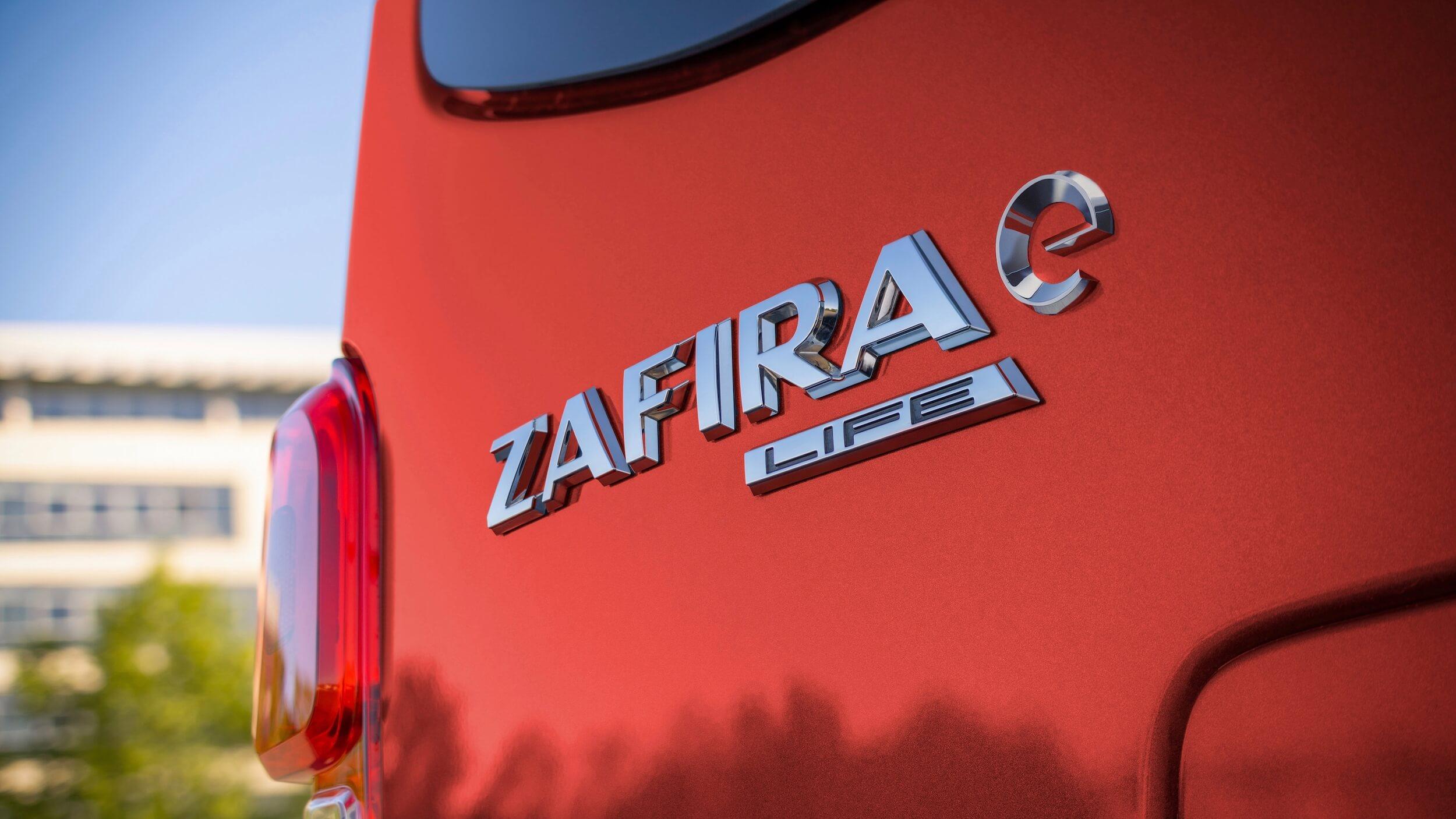 Elektrische Opel Zafira e logo