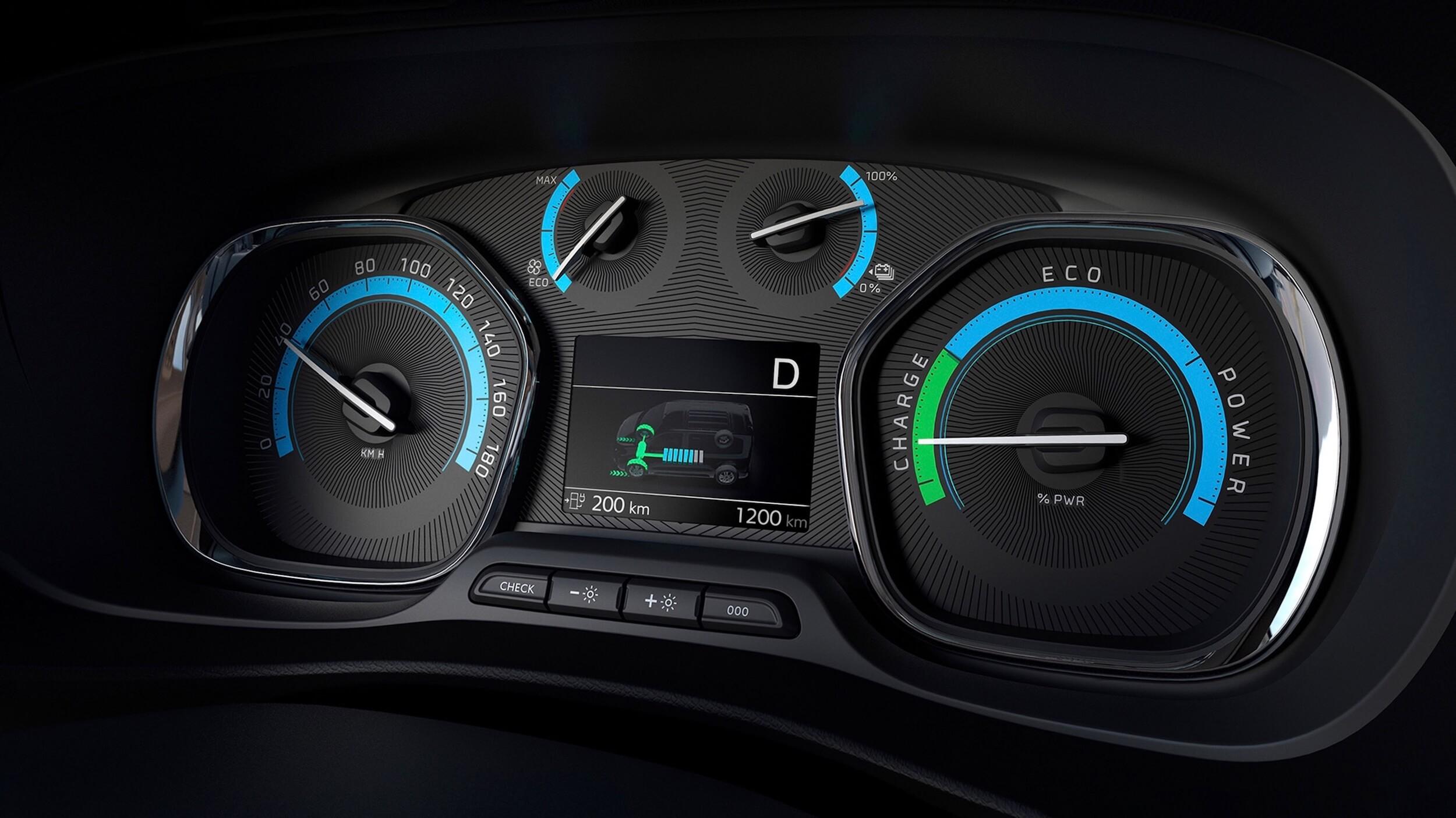 Elektrische Opel Zafira snelheid