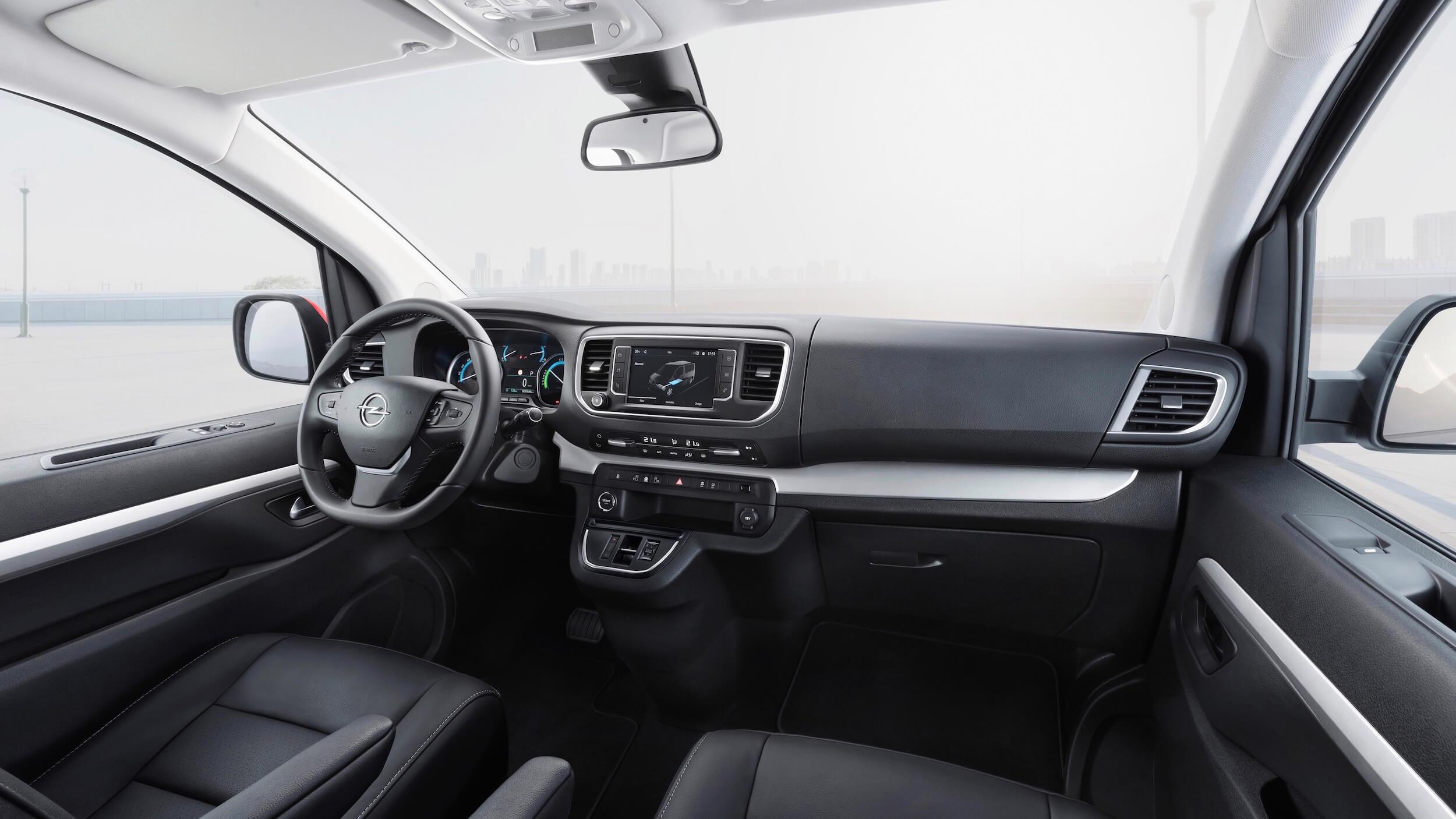 Elektrische Opel Zafira stuur en dashboard