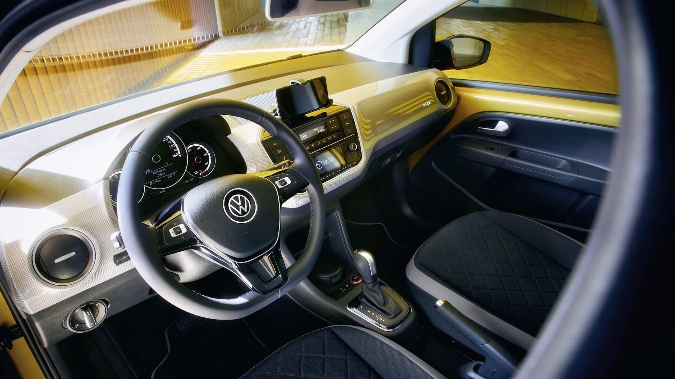 Elektrische Volkswagen e-Up stuur