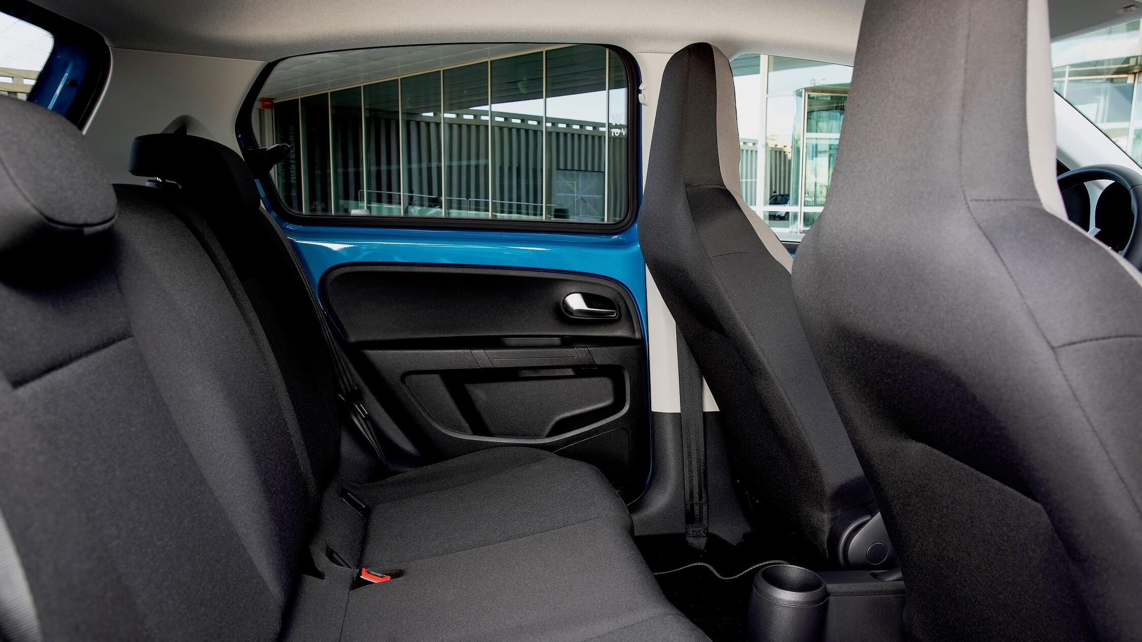 Elektrische Volkswagen e-Up zetels achteraan