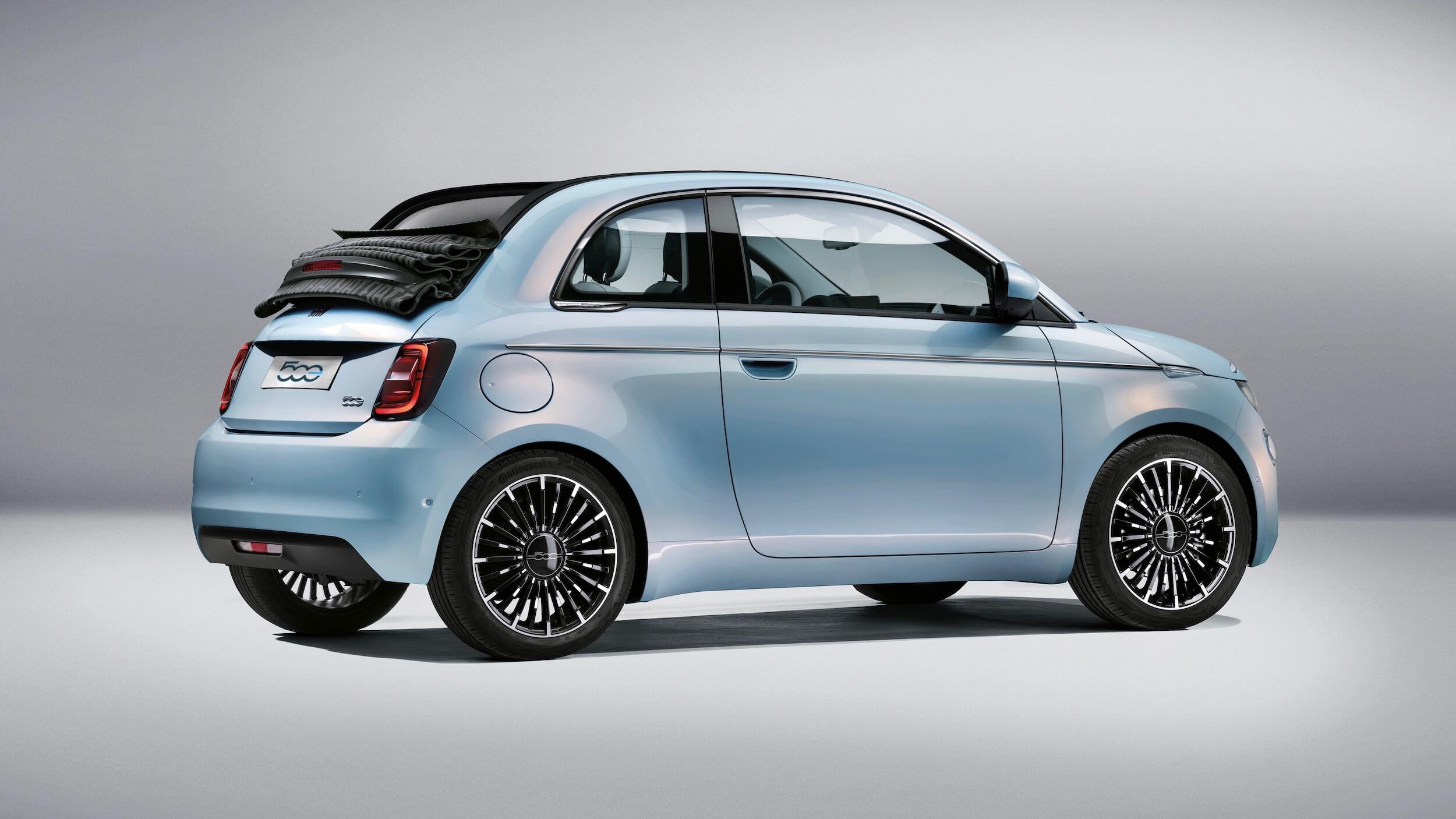 Fiat 500e Cabrio elektrische stadsauto