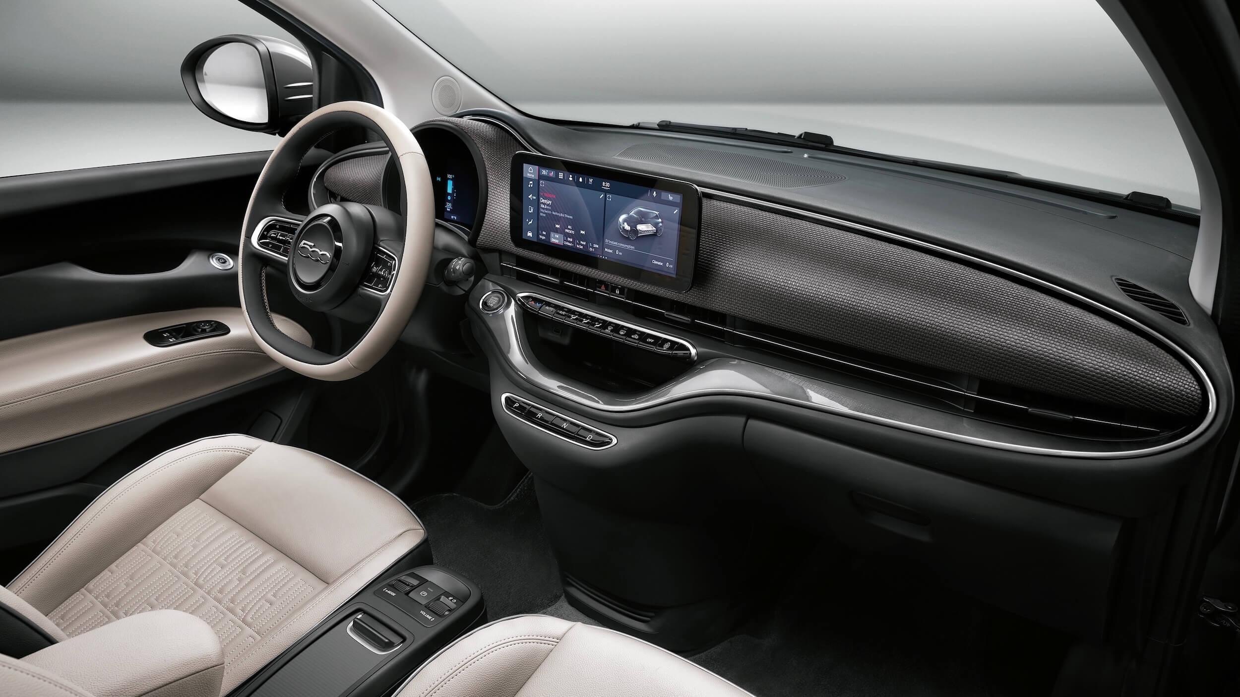 Fiat 500e Cabrio interieur