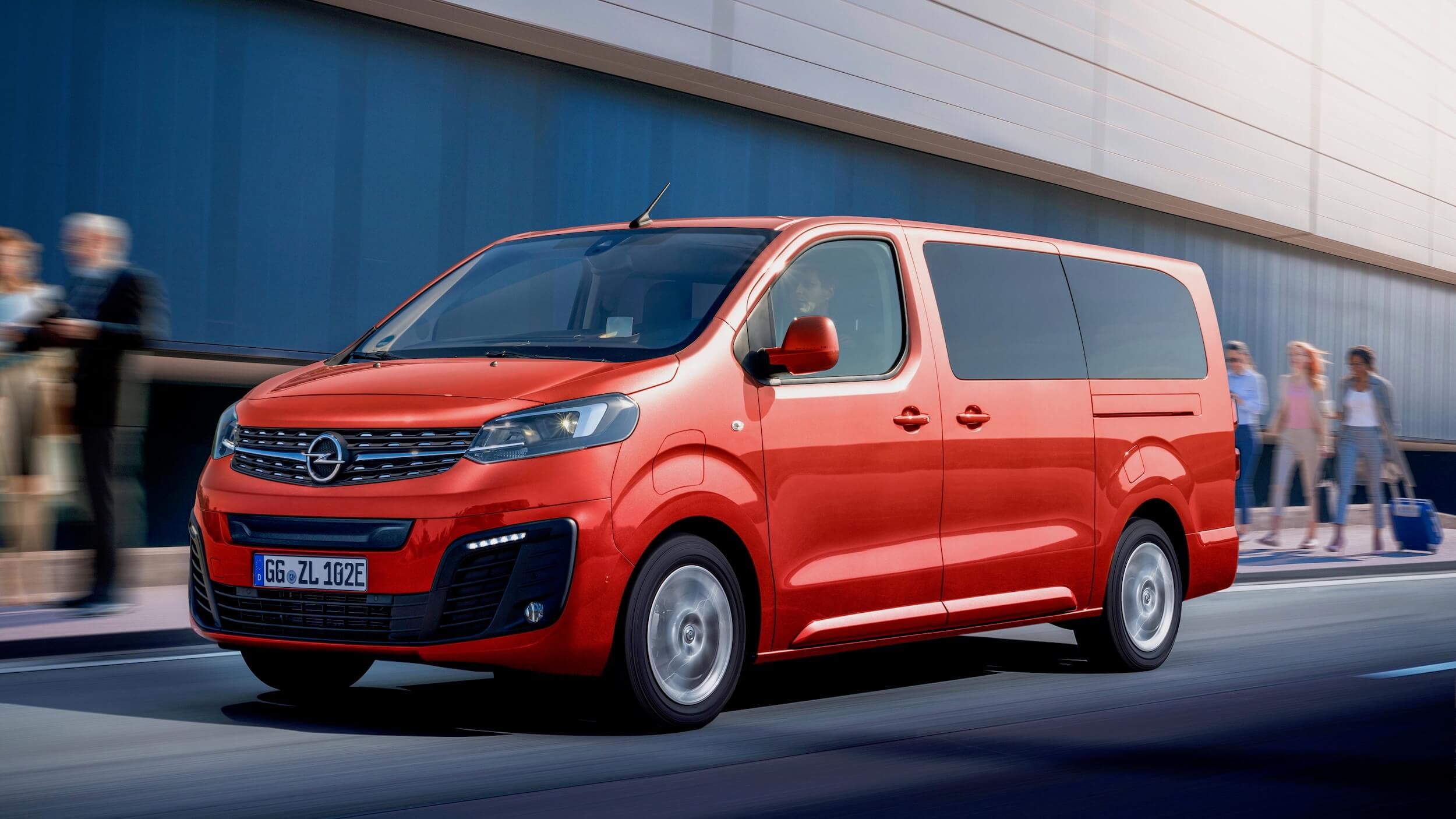 Opel Zafira e Rode minibus