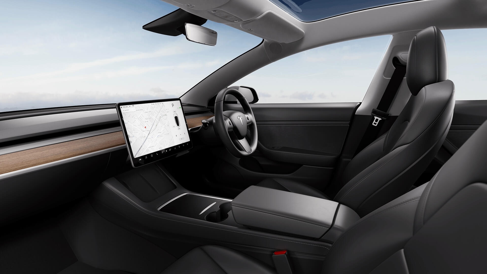 2021 Tesla Model 3 interieur dashboard