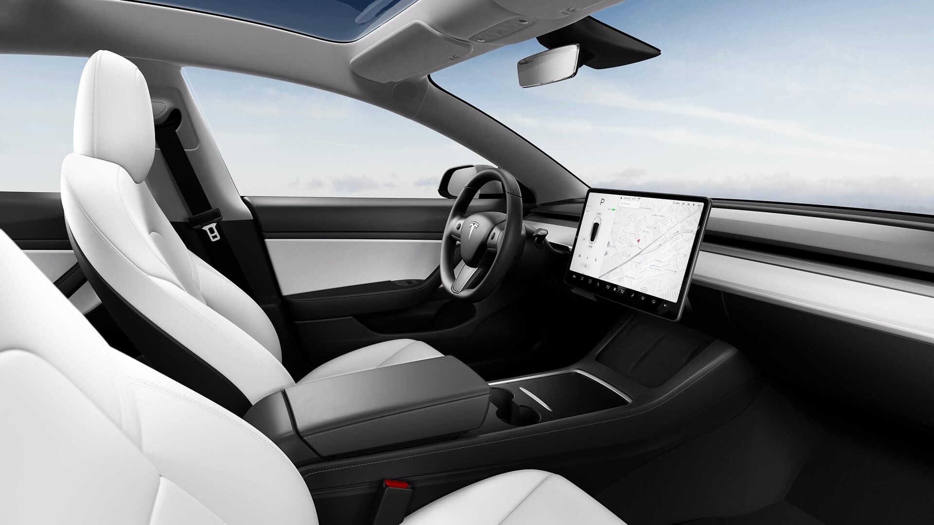 2021 Tesla Model 3 interieur stoelen