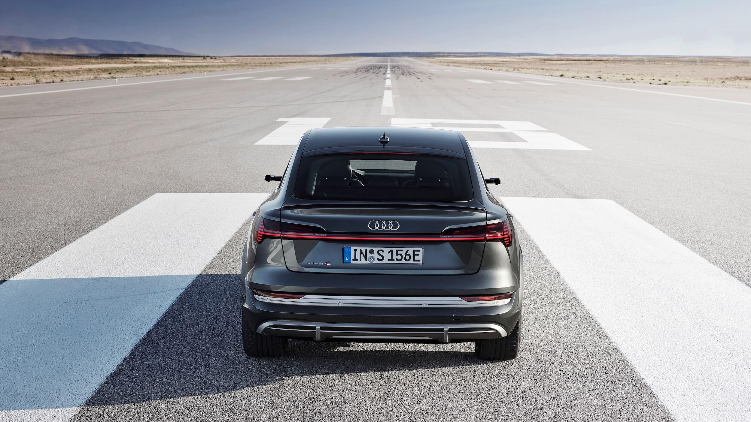 Audi e tron Sportback achterkant