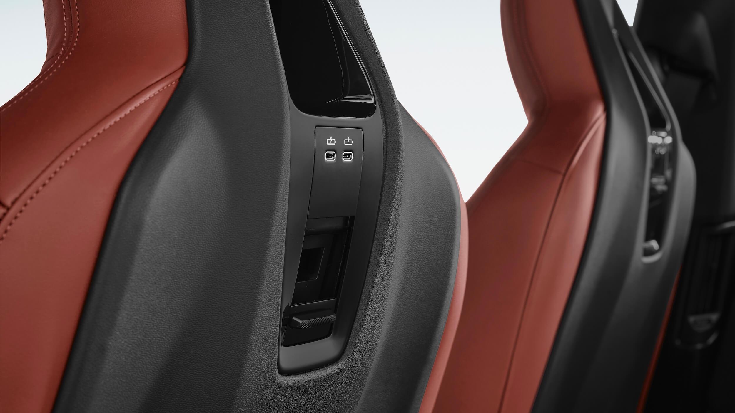 BMW iX USB poort zetels