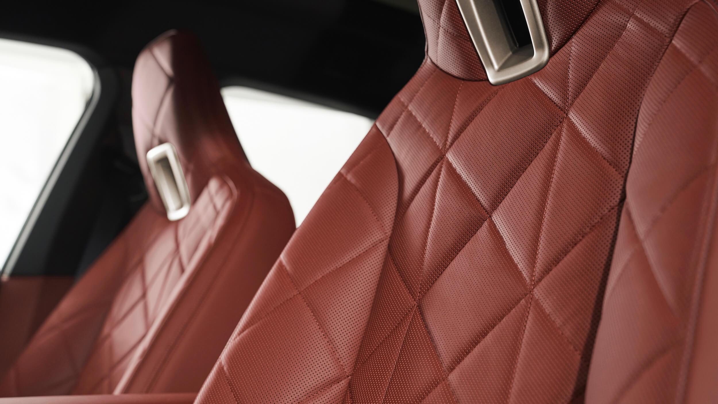 BMW iX stoelen detail