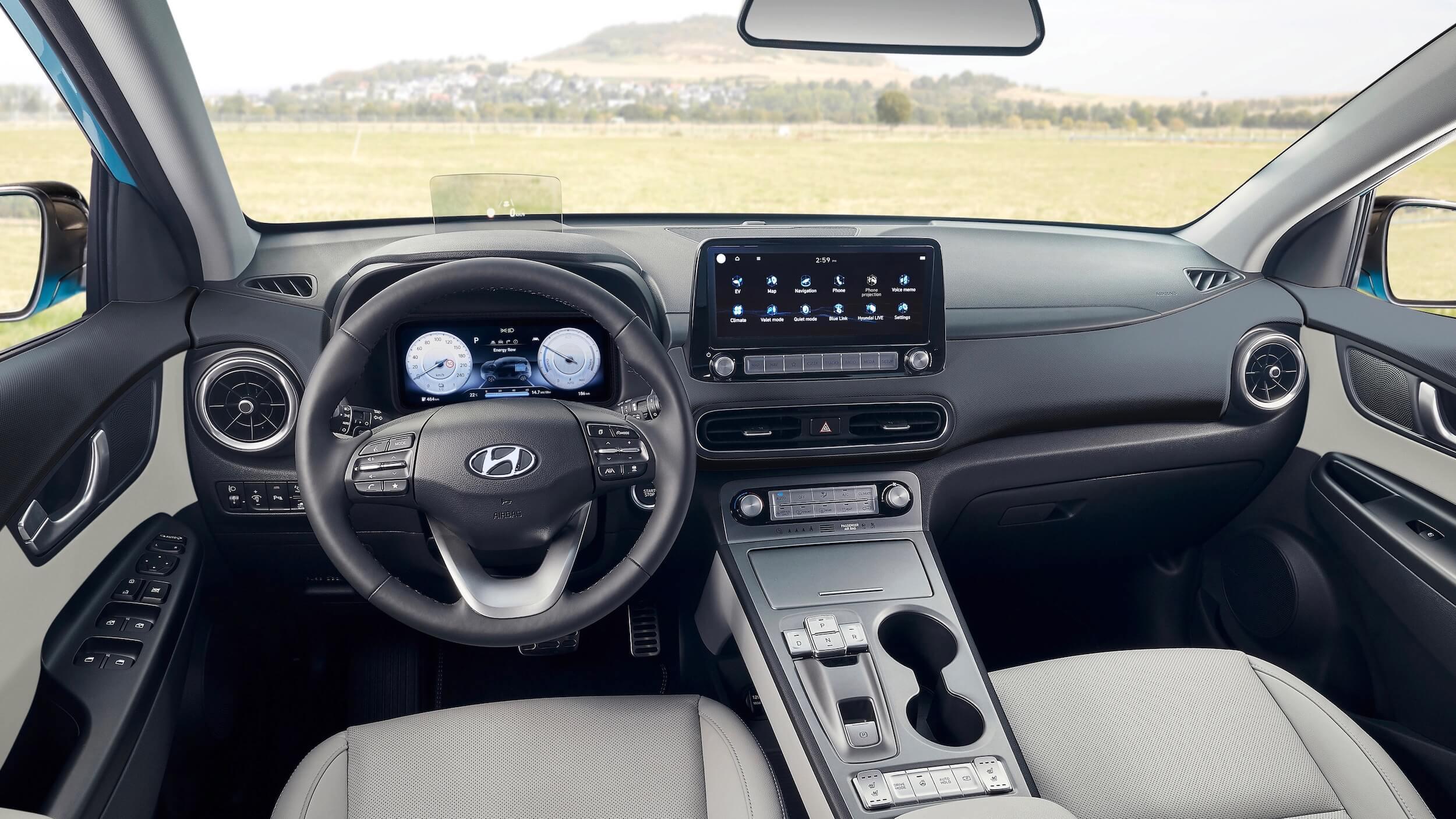 Nieuwe Hyundai Kona EV interieur