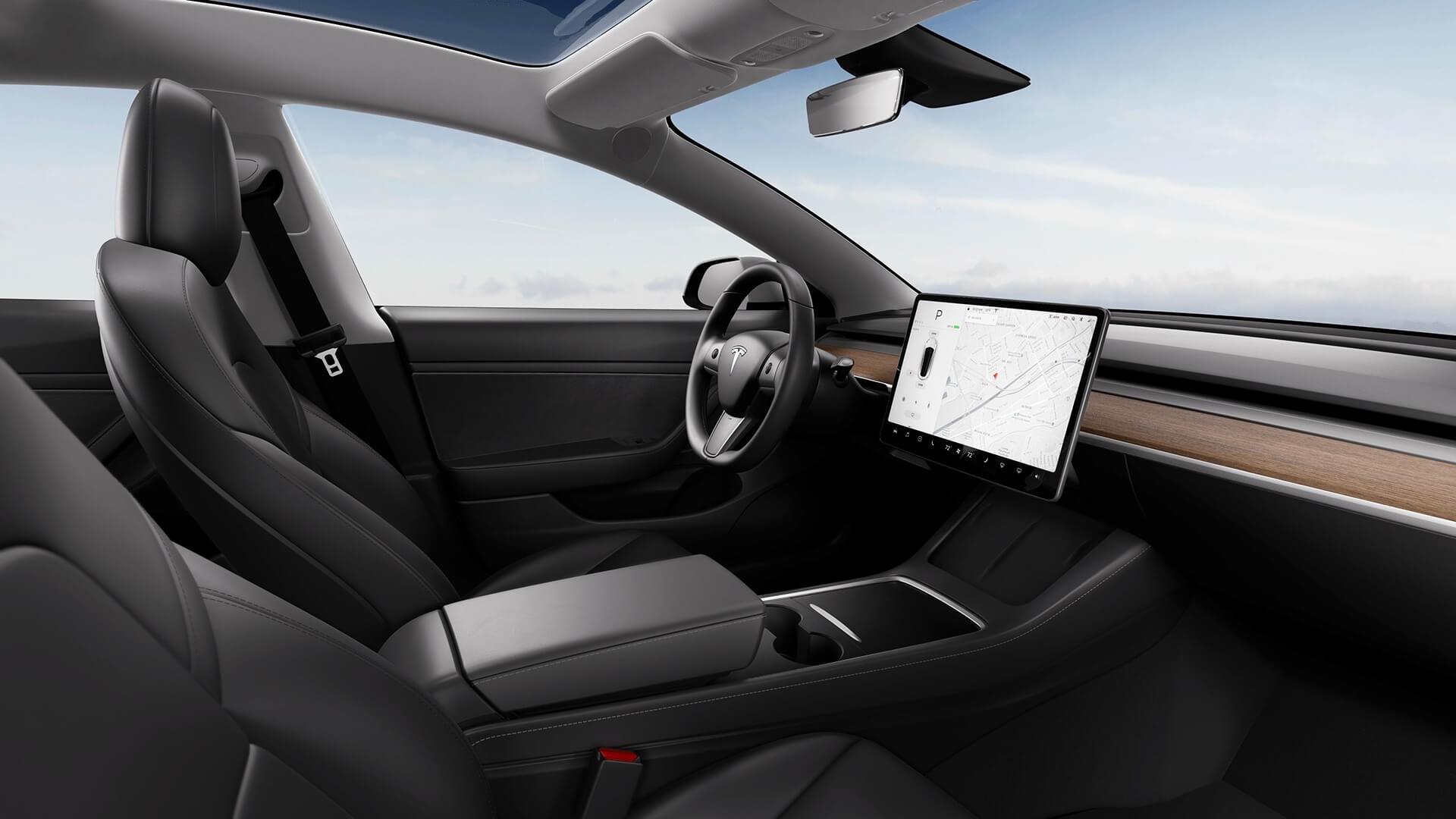 Nieuwe Tesla Model 3 interieur