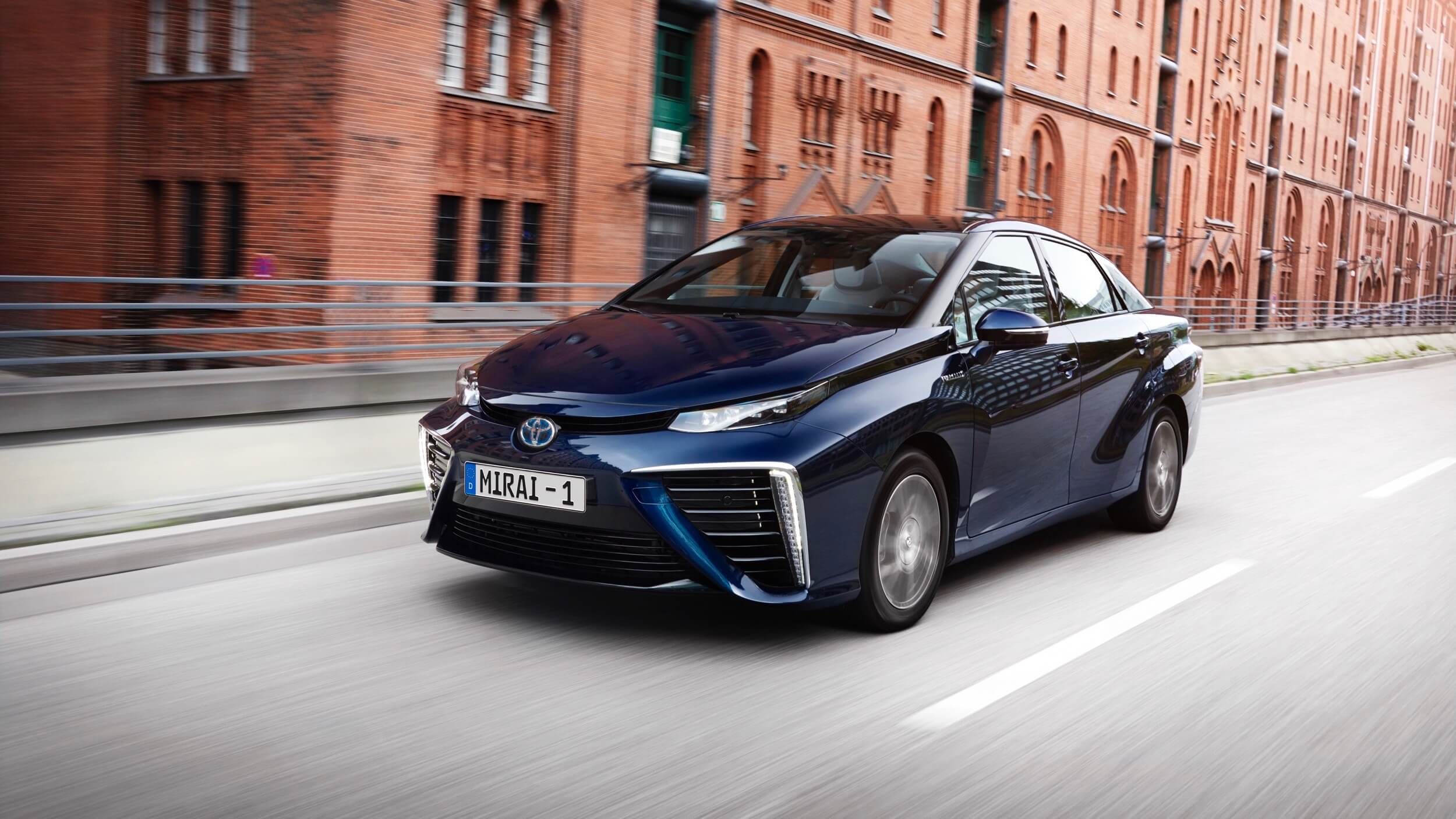 Toyota Mirai waterstof auto