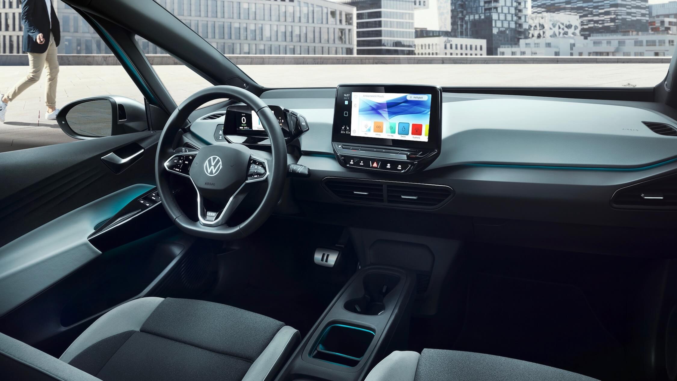 Elektrische Volkswagen ID 3 dashboard