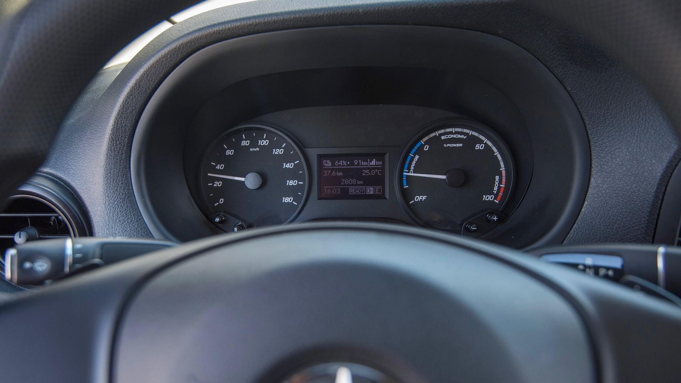 elektrische Mercedes Sprinter tellers