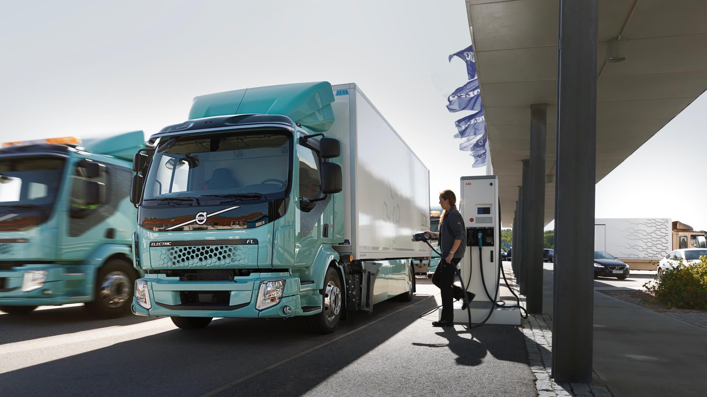 elektrische Volvo Truck opladen