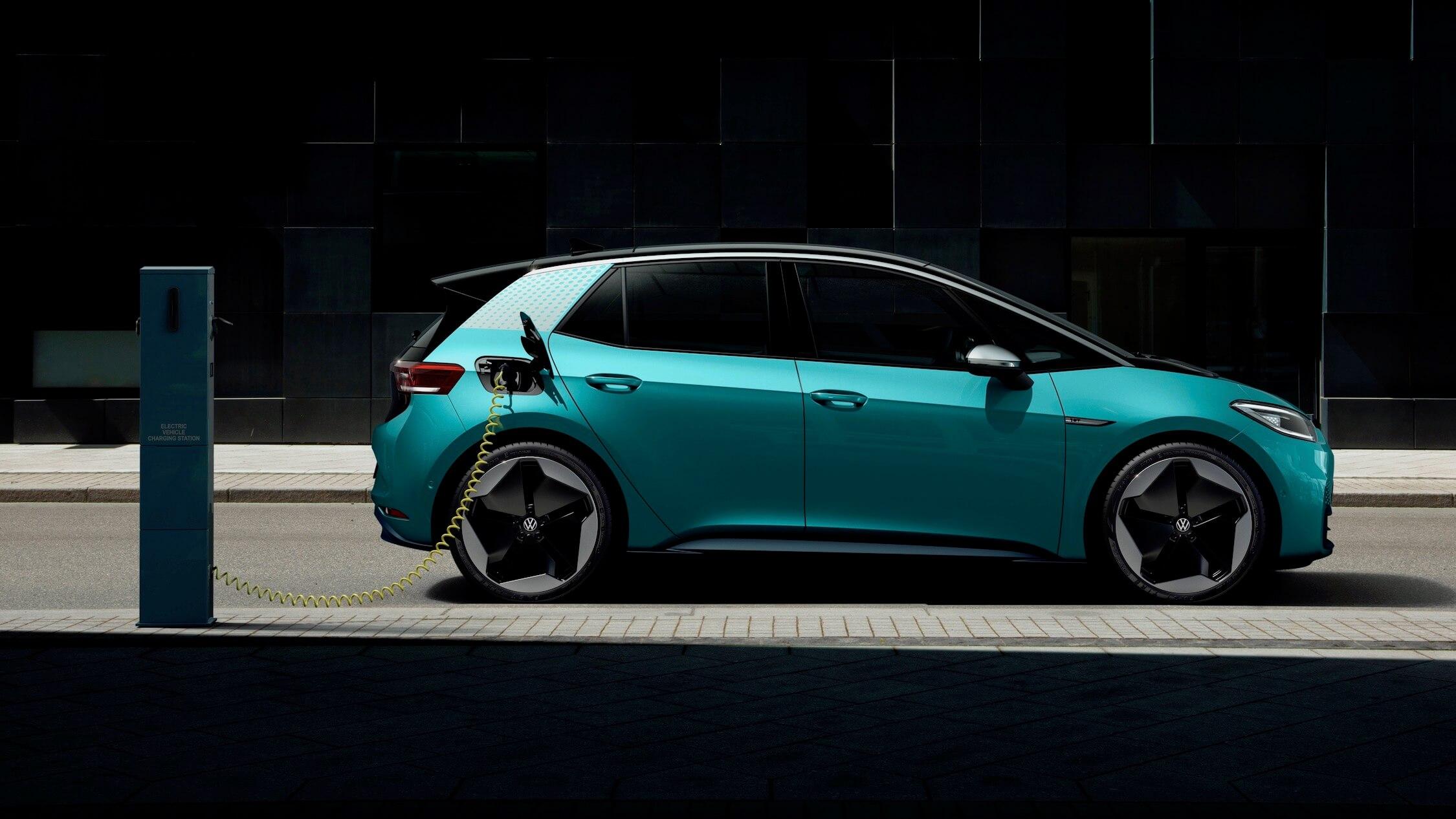 laadpaal voor elektrische Volkswagen ID 3
