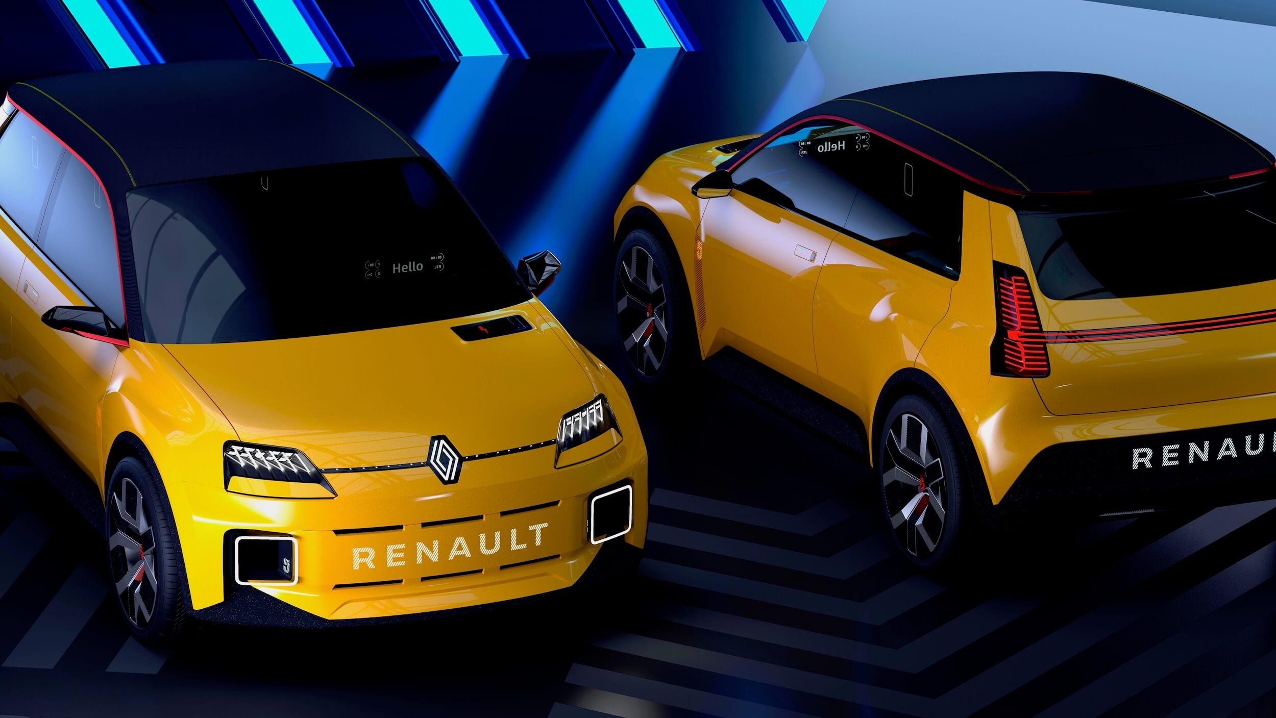 2 Renault 5 Prototypes naast elkaar