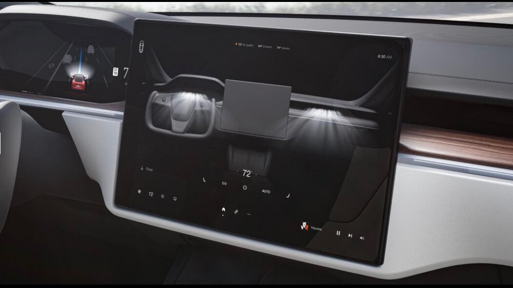 Tesla Model S scherm middenconsole