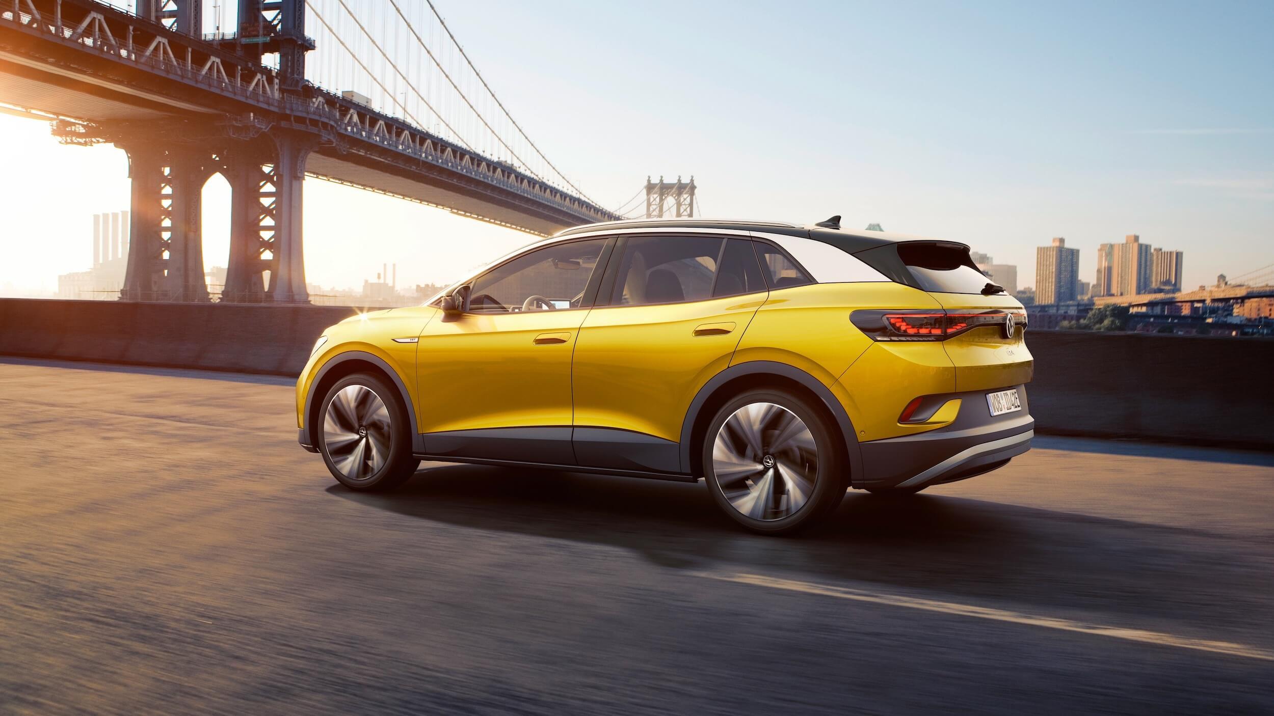 VW ID.4 geel