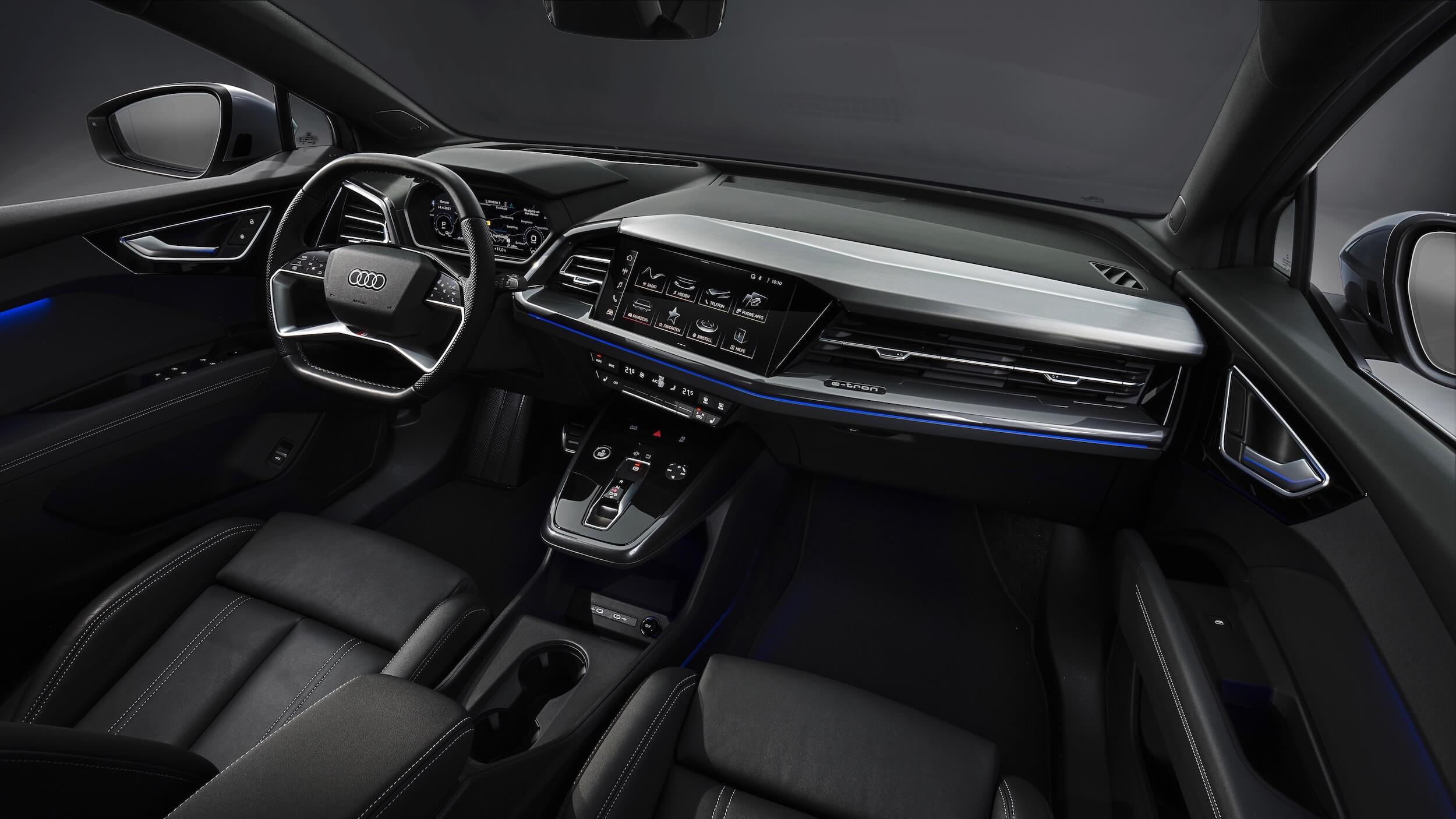Audi Q4 Sportback e tron interieur