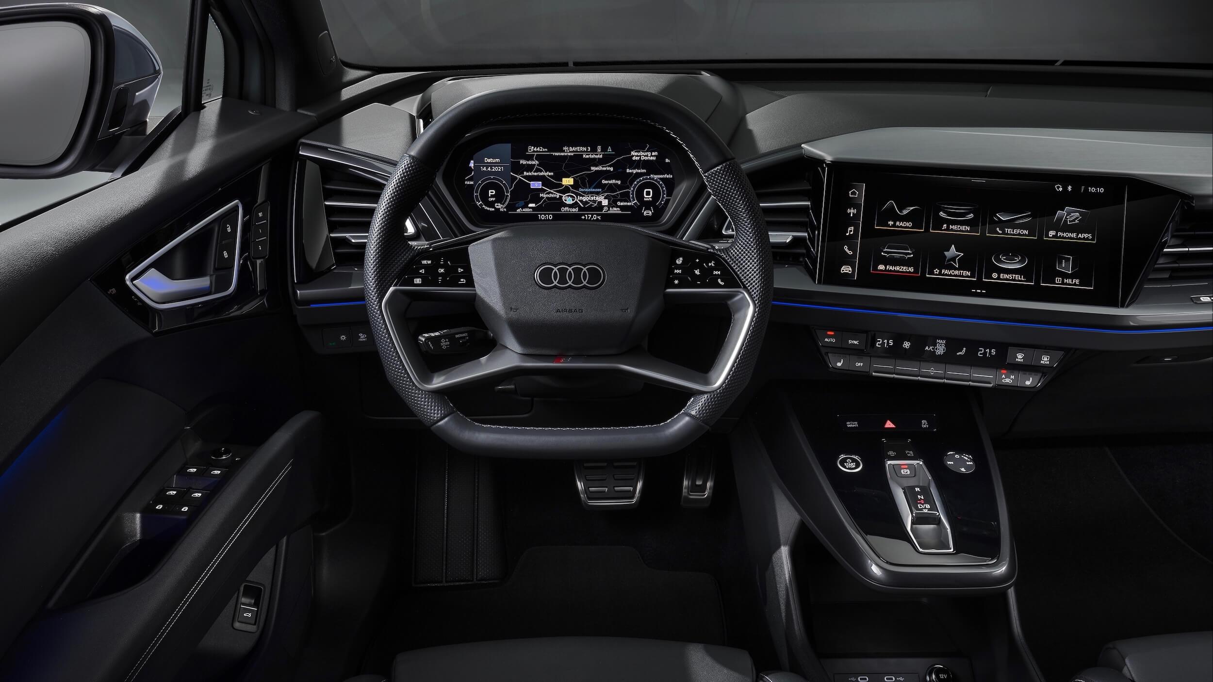 Audi Q4 e tron stuur