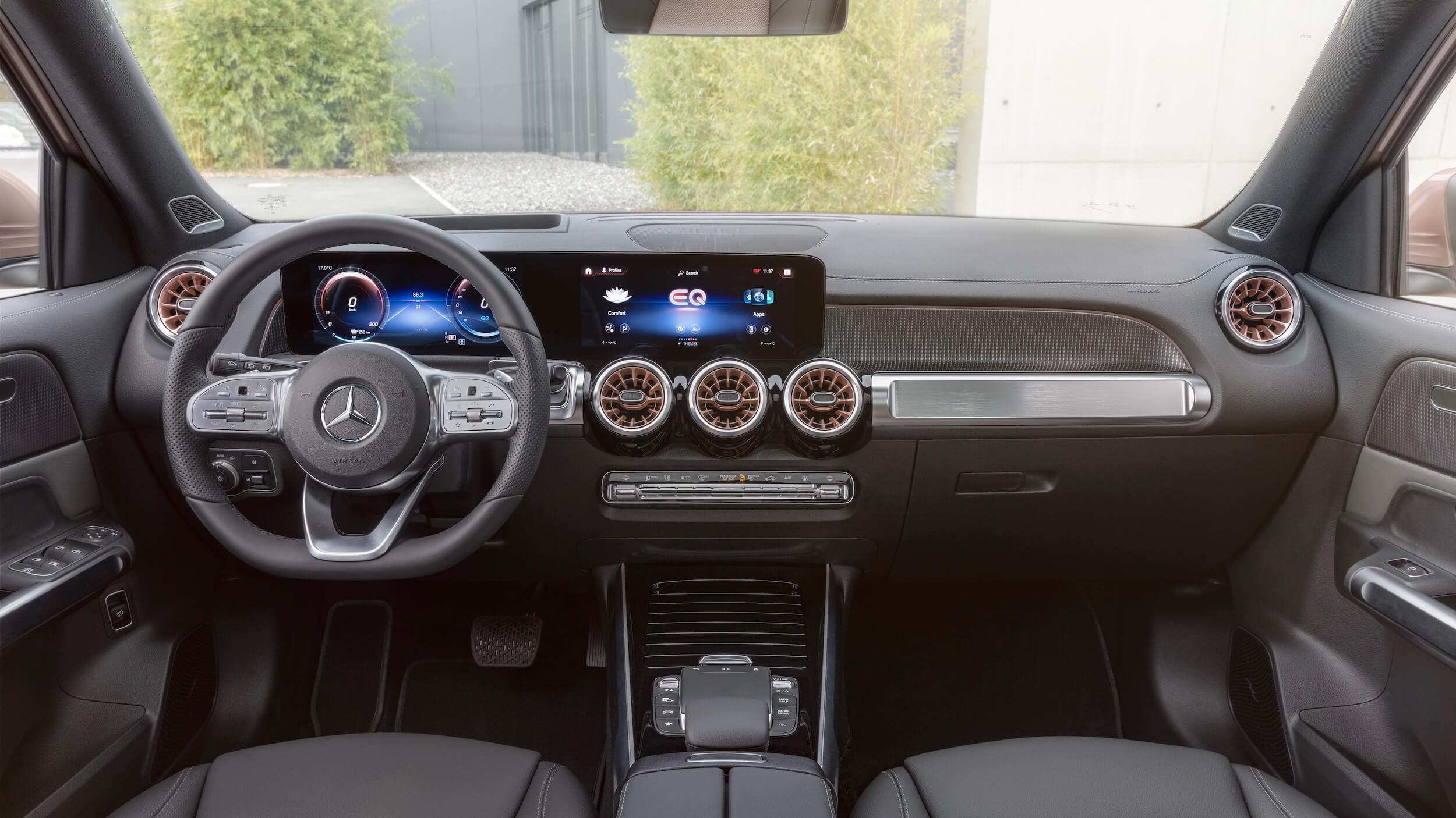 Mercedes EQB dashboard
