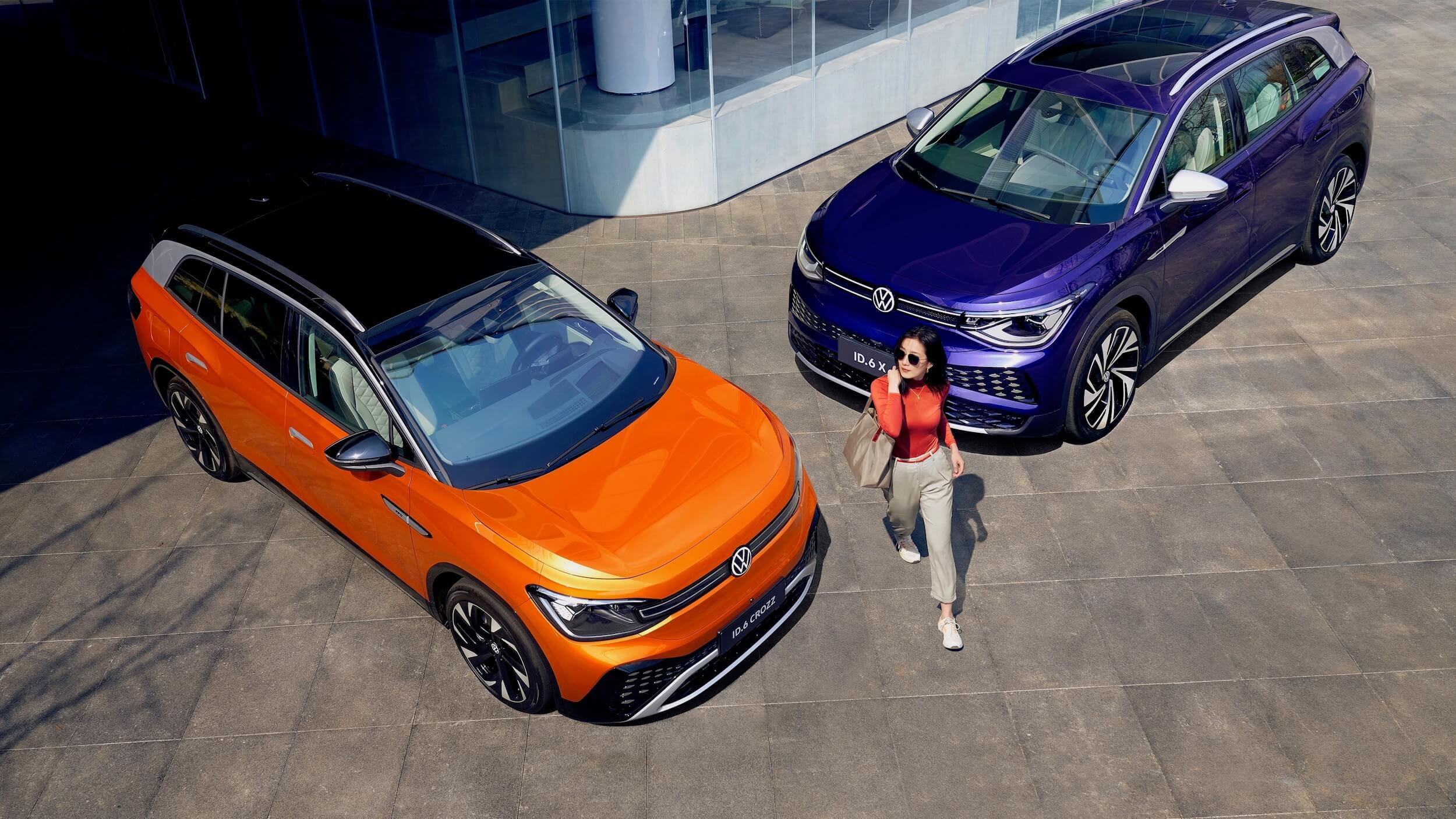 fancy china lady next to VW ID.6