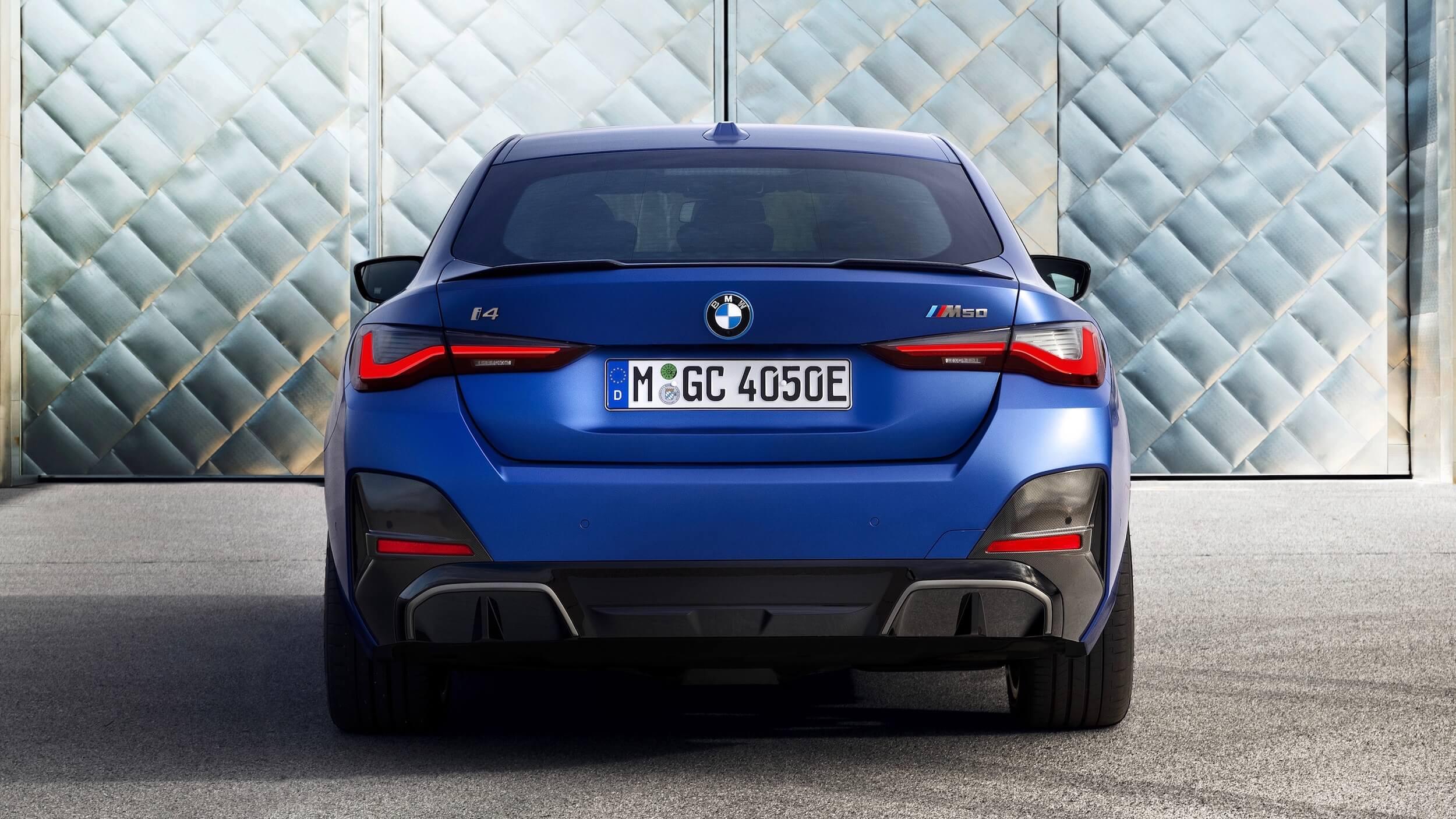 BMW i4 M50 achterkant