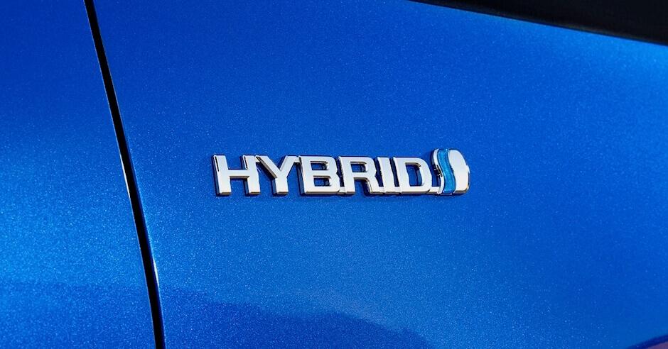Toyota hybride auto logo